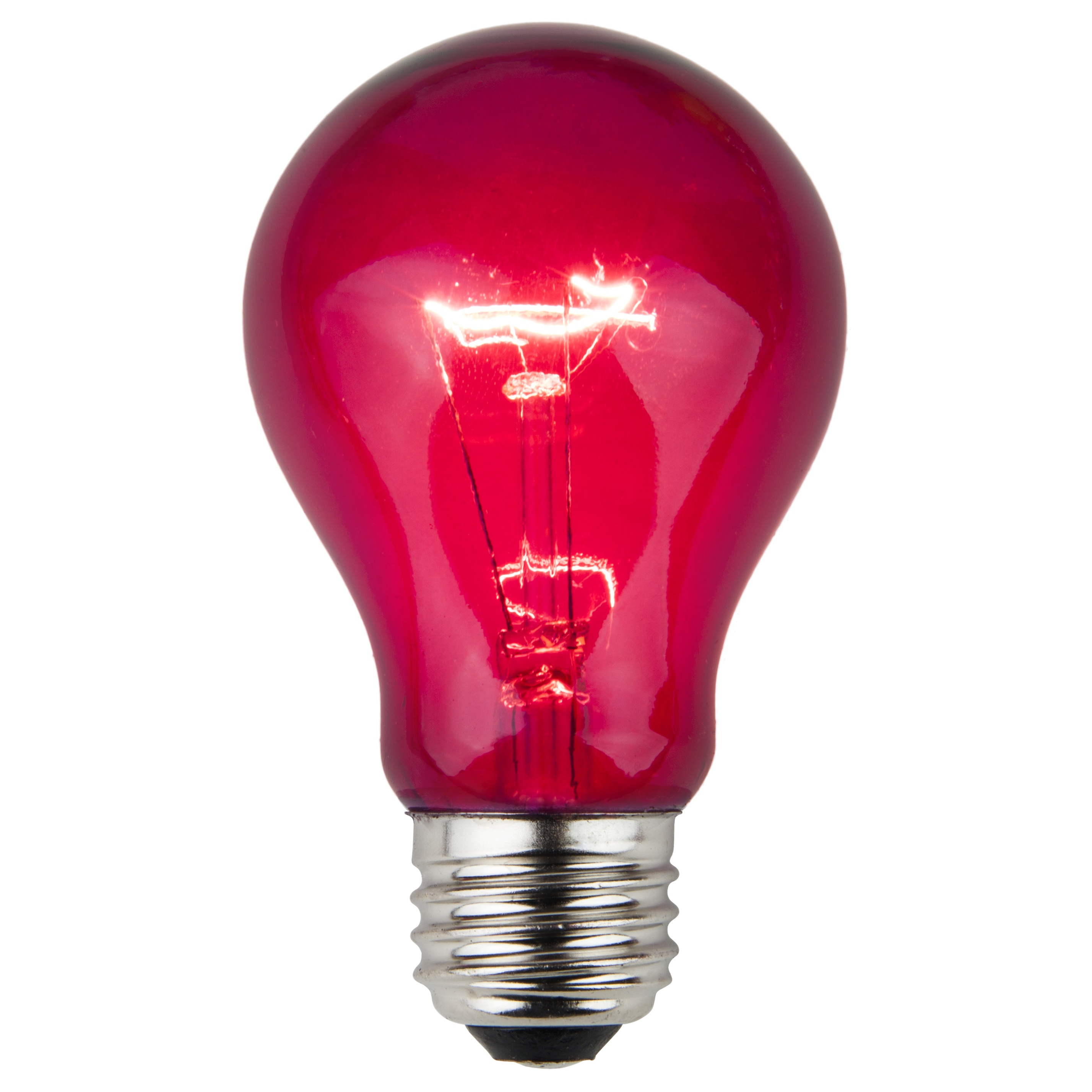 A19 Purple Transparent Incandescent Bulb
