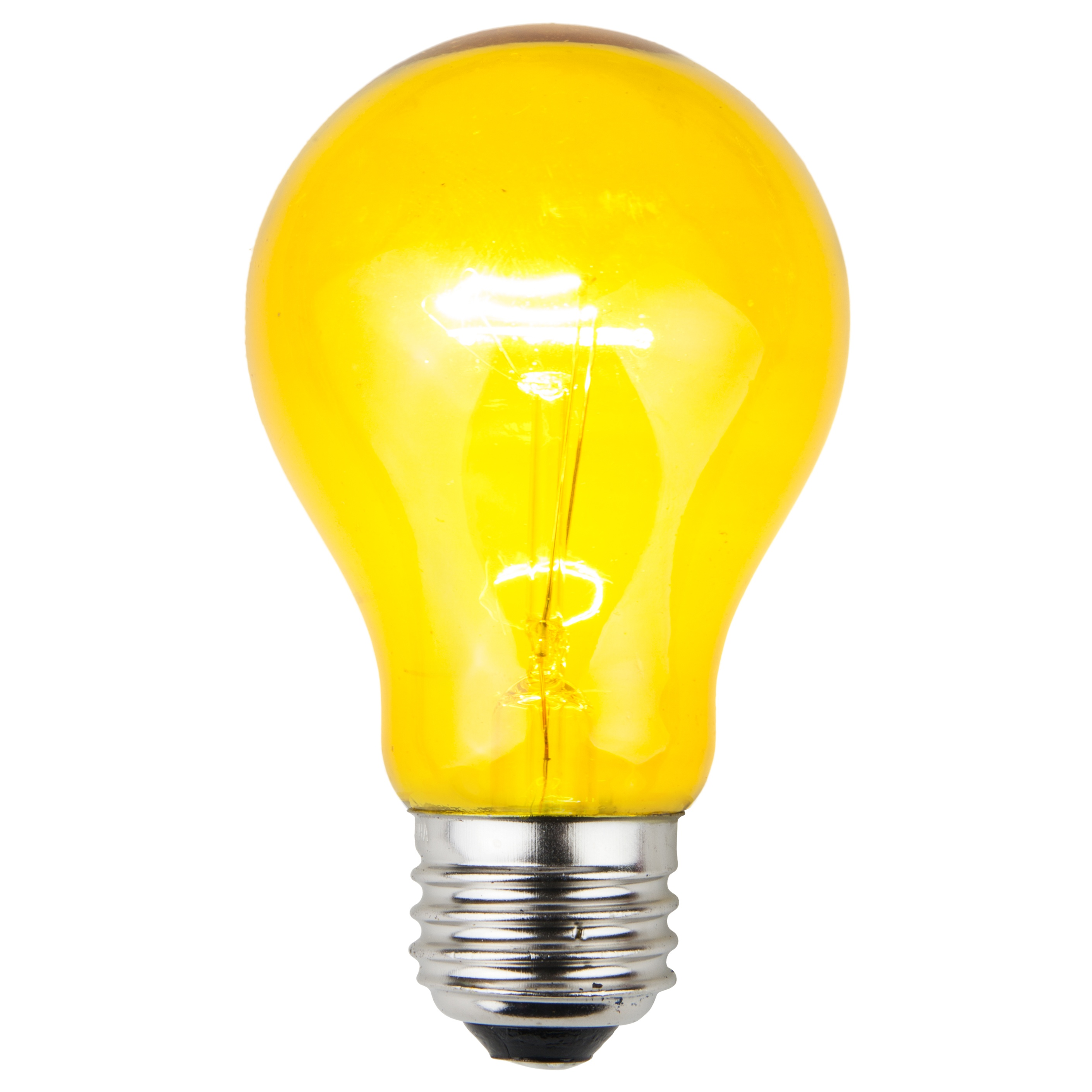 E26 Party And Sign Bulbs A19 Transparent Yellow 25 Watt Replacement Bulbs