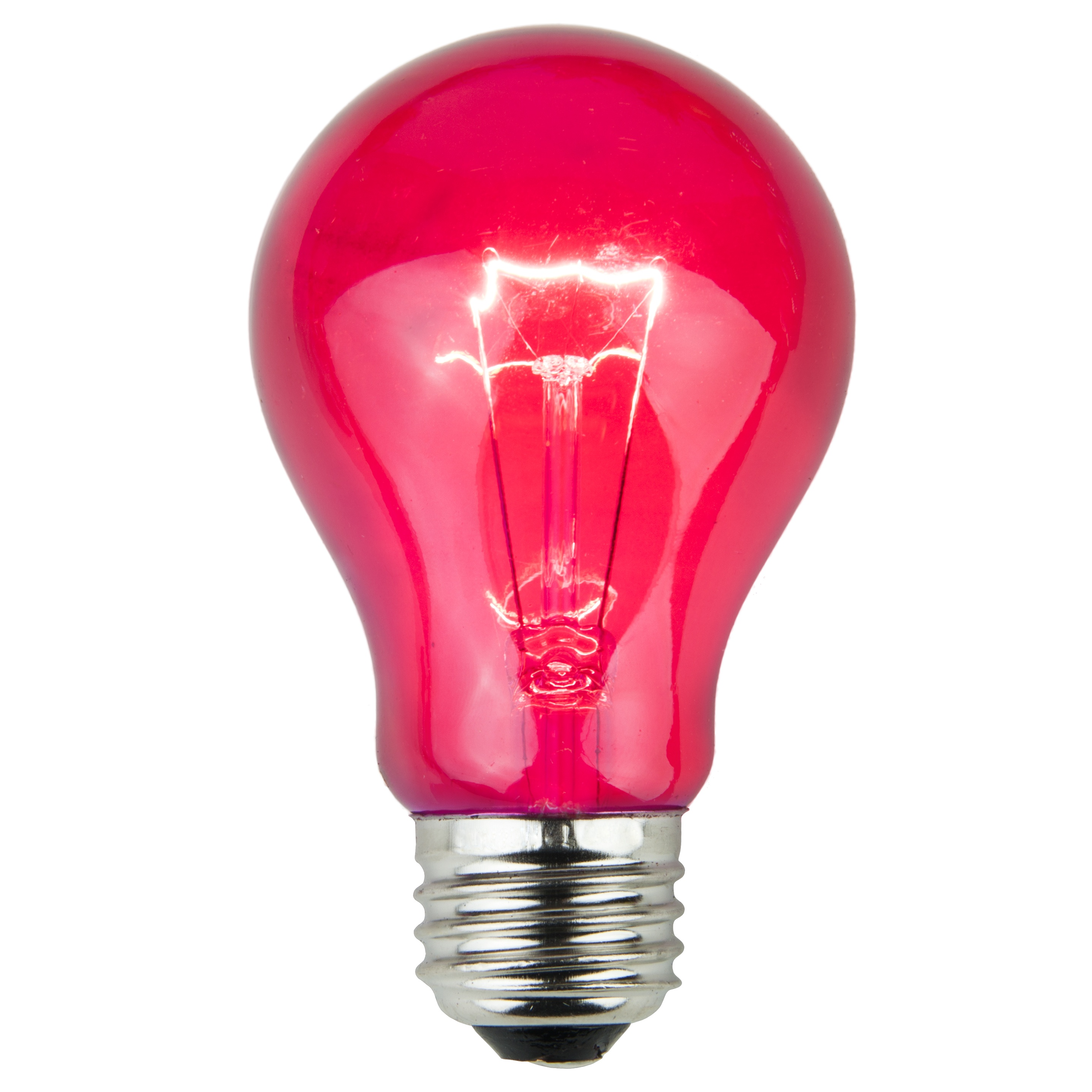 A19 Pink Transparent Incandescent Bulb