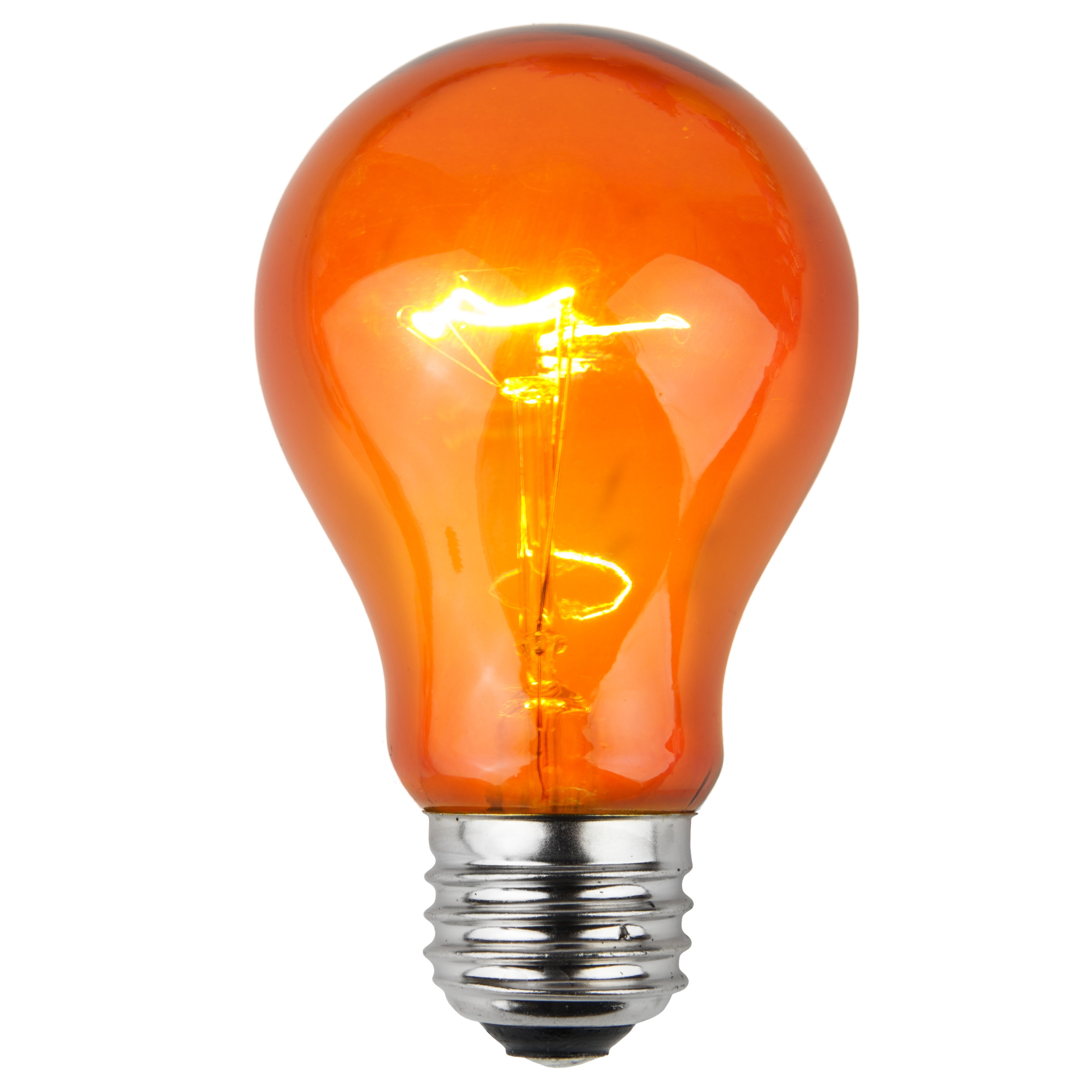 A19 Amber Transparent Incandescent Bulb