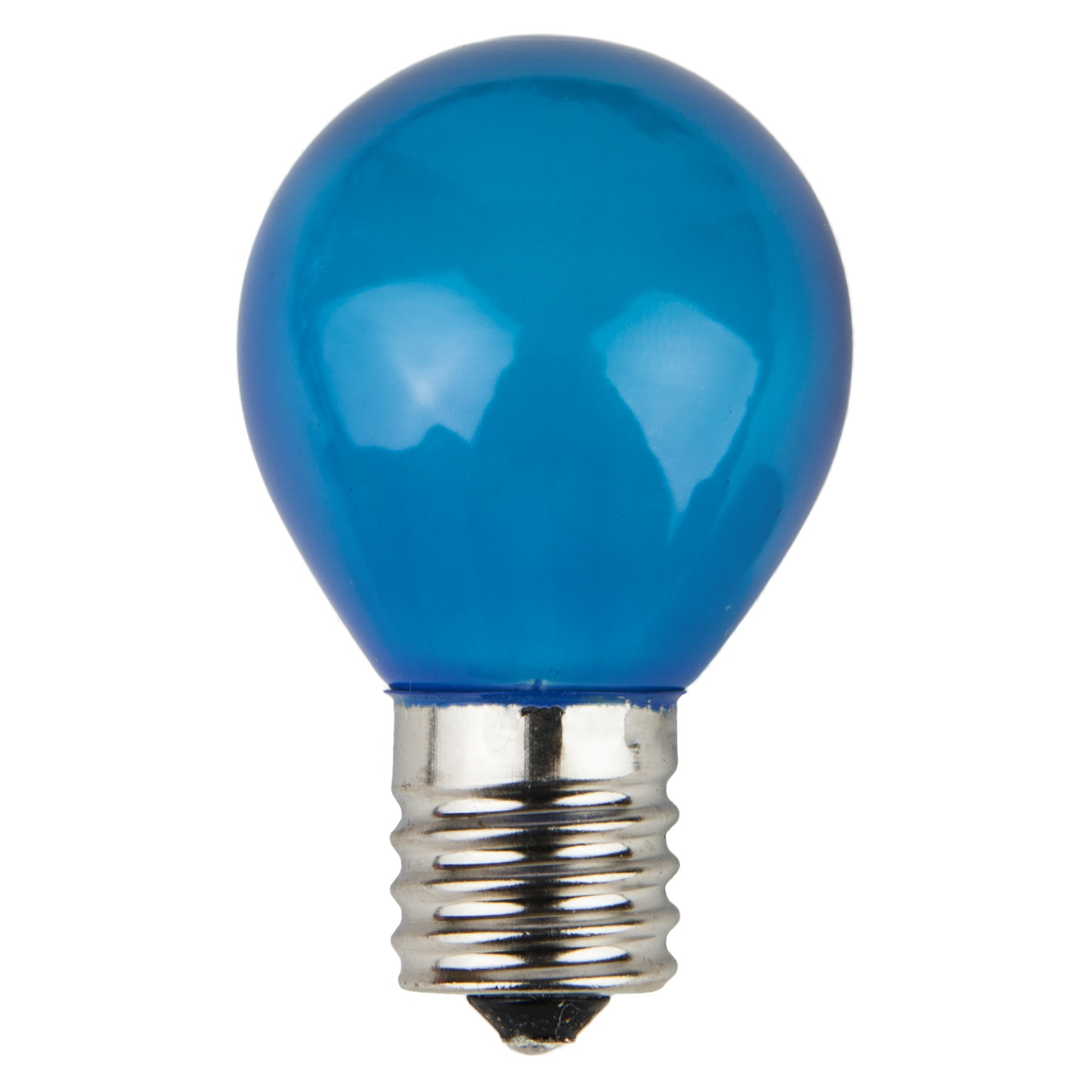 S11 Blue Opaque Incandescent Sign Lamp