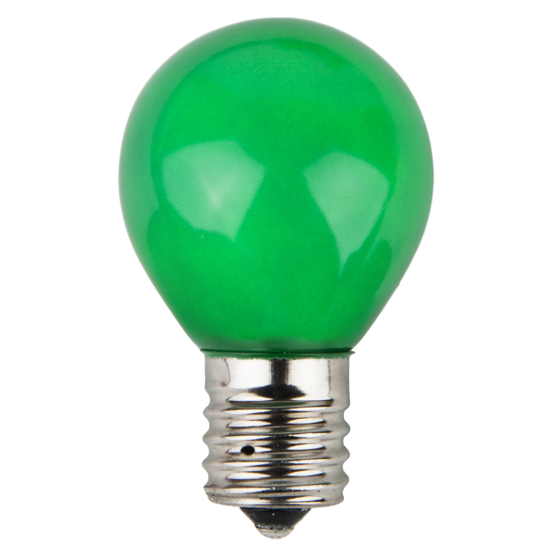 S11 Green Opaque Incandescent Sign Lamp