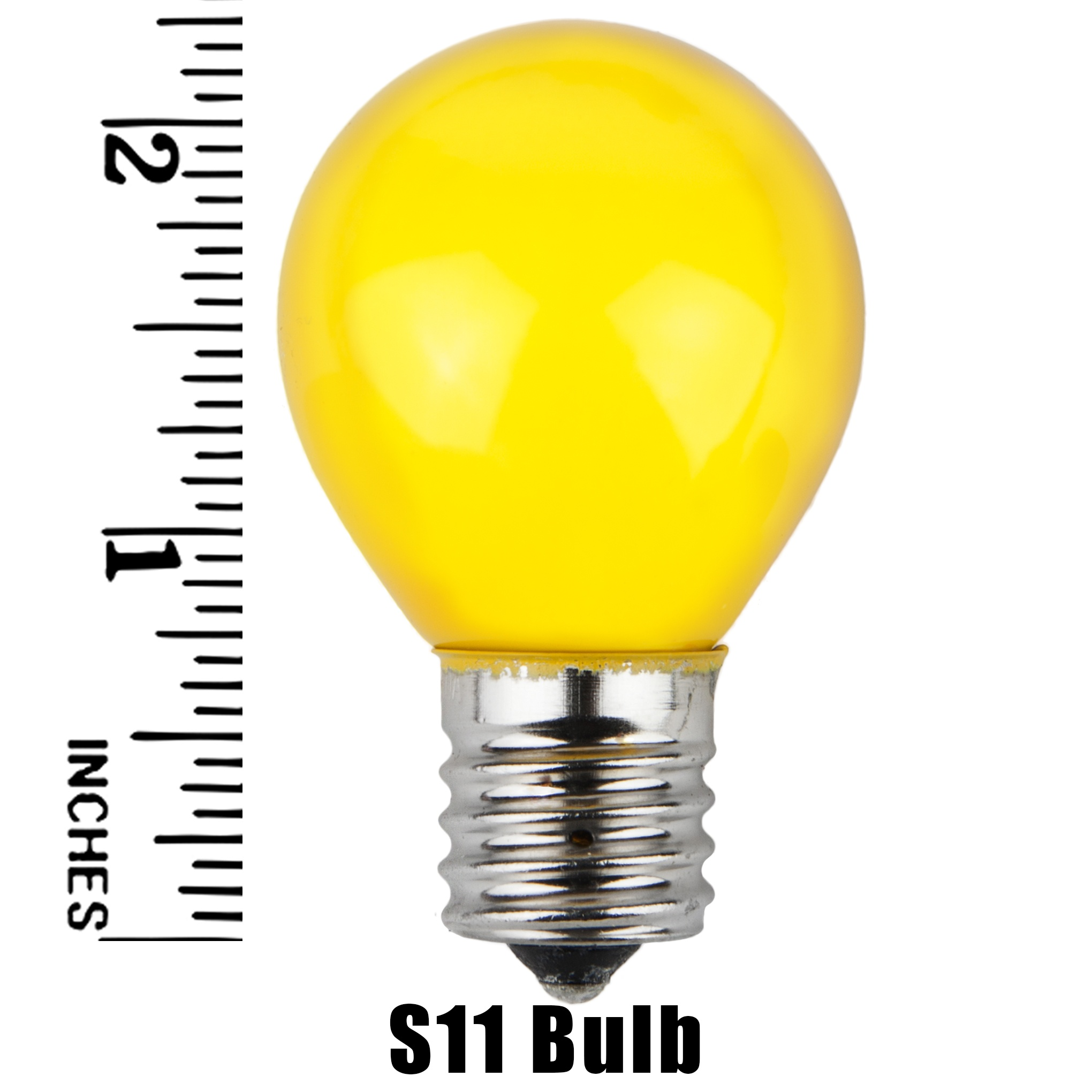 S11 Yellow Opaque Incandescent Sign Lamp Measurement