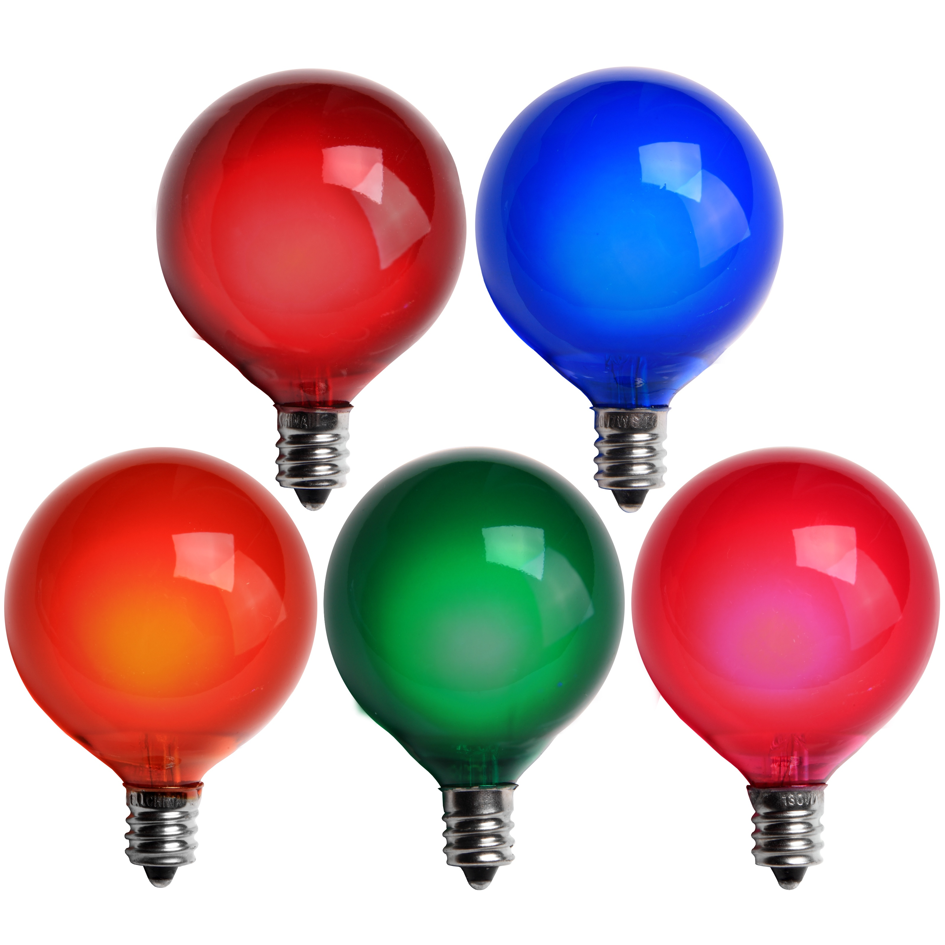 E12 Multicolored Satin G50 Bulbs