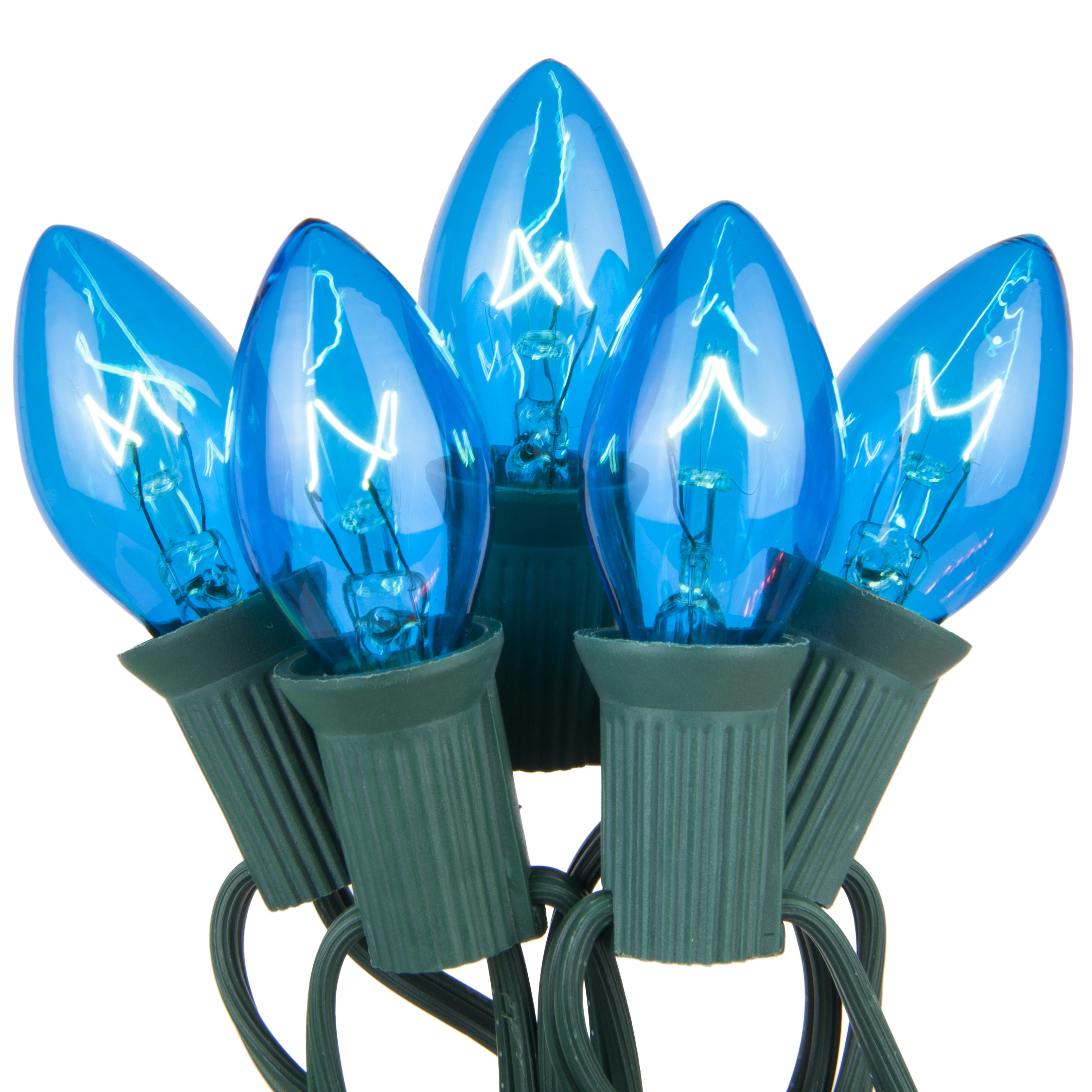 C7 Transparent Blue Incandescent Prelamped Lights