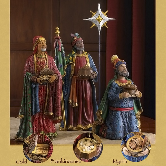 Deluxe Three Kings With Gifts
