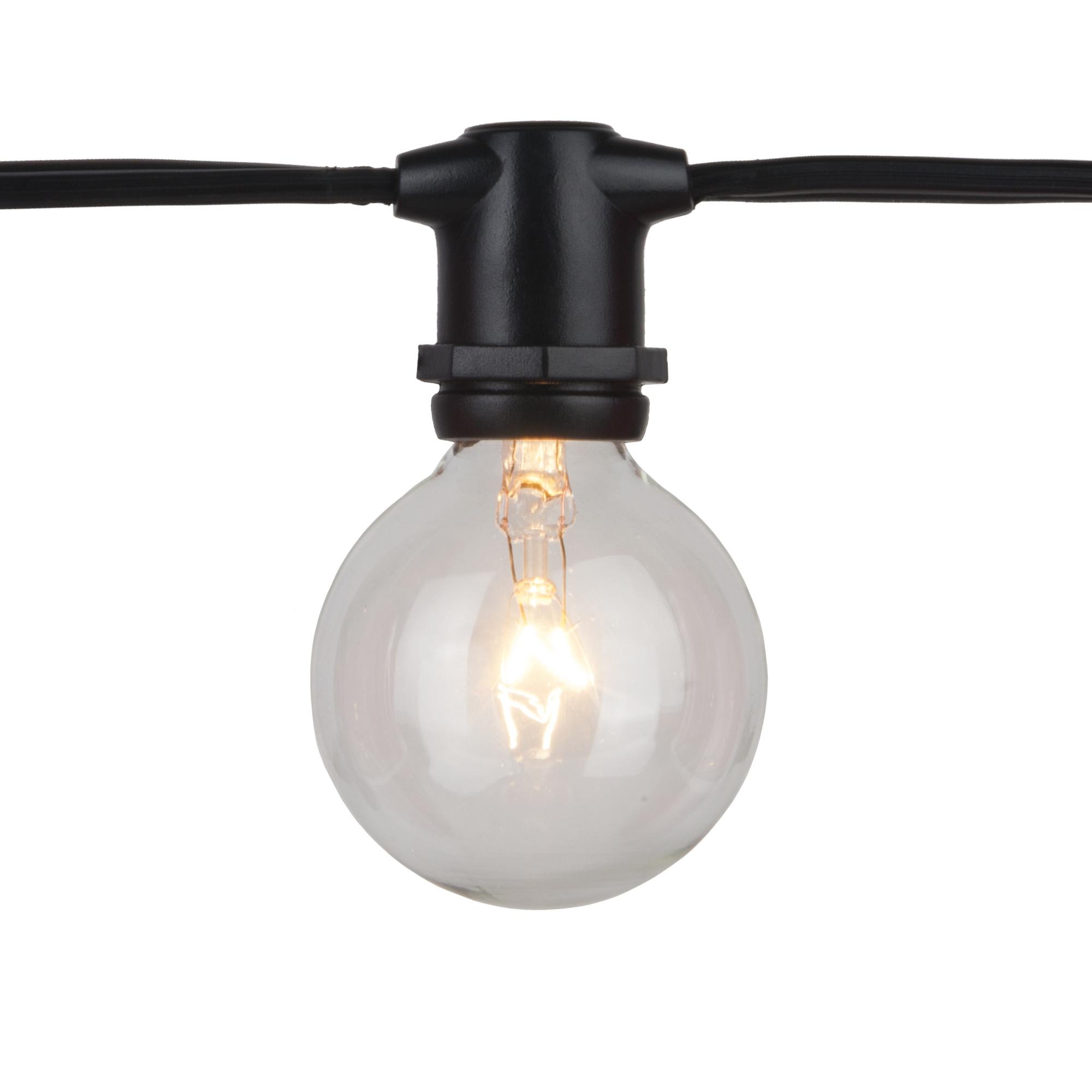 C9 Christmas Lights 100 39 C9 Commercial Patio Light Stringer SPT2 Black