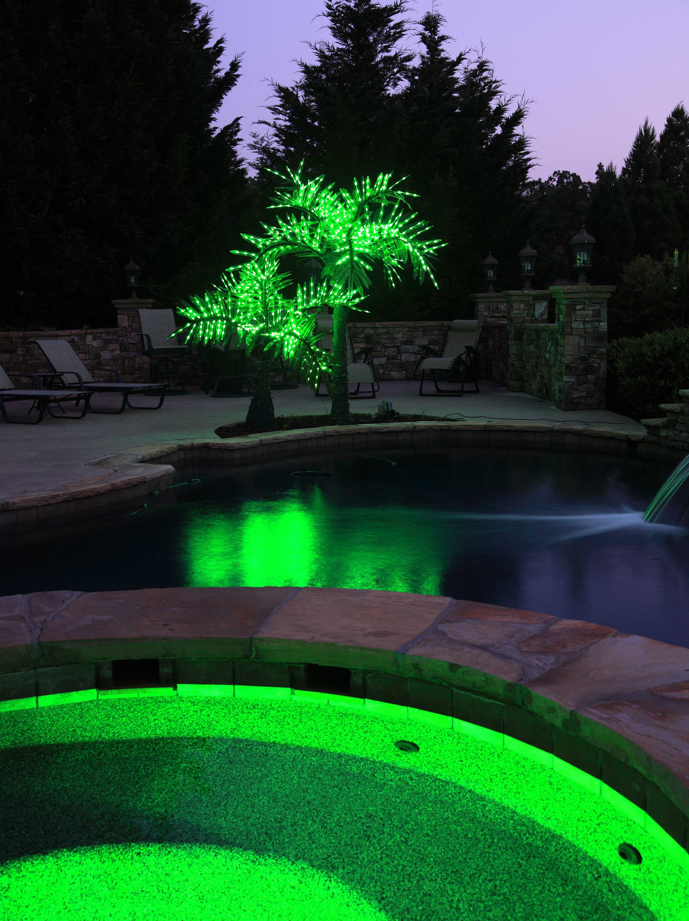 Lighted Palm Trees 20 Led Palm Tree Natural Green