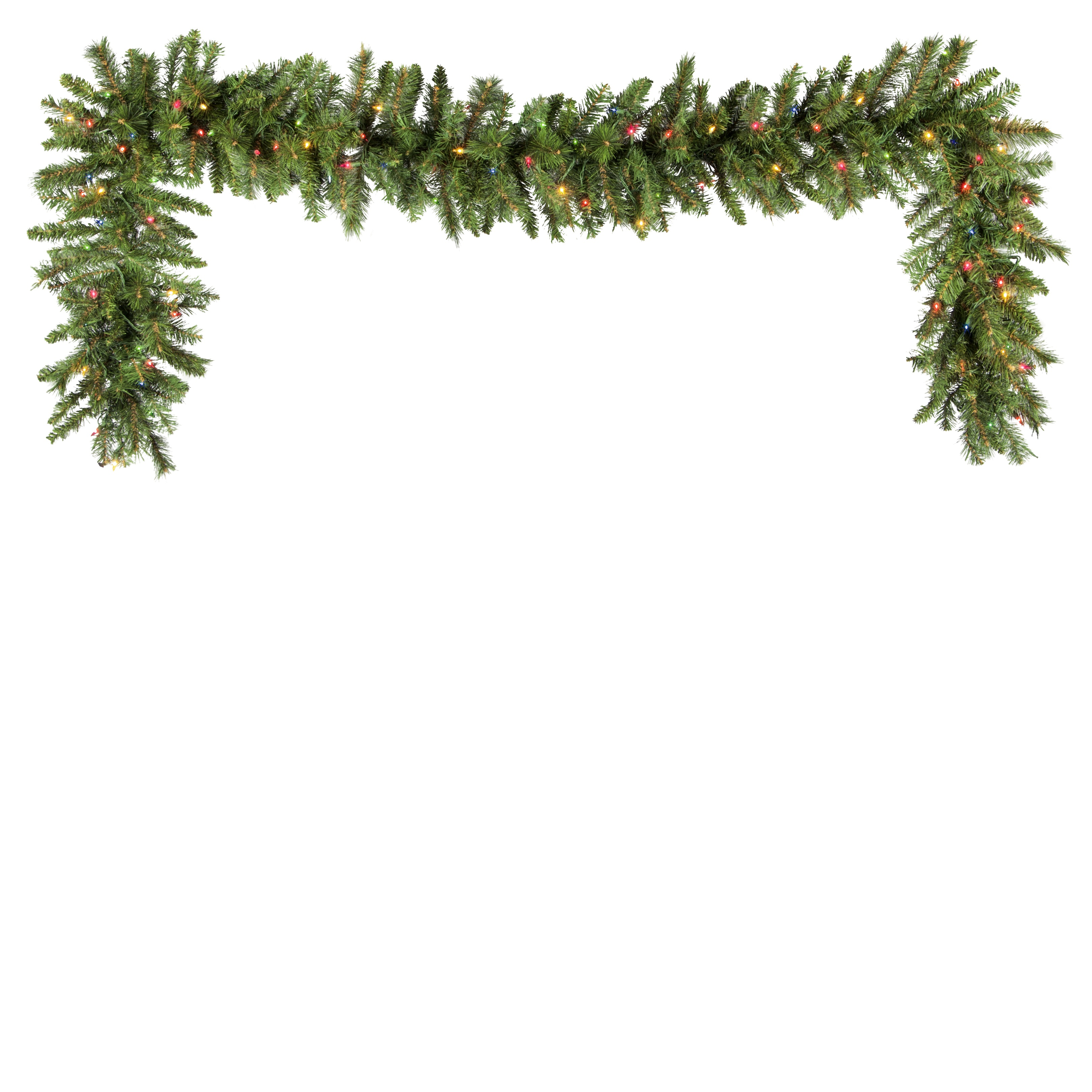Prelit Brighton Fir Garland Multicolor Lights