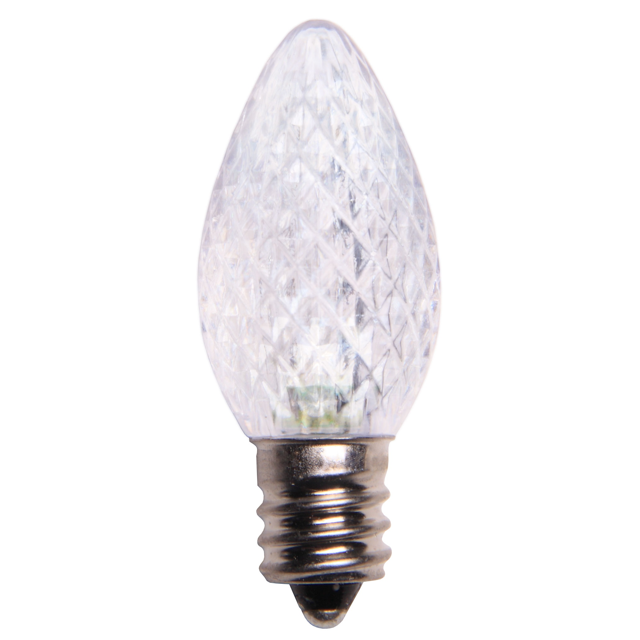 C7 LED Cool White Christmas Bulbs