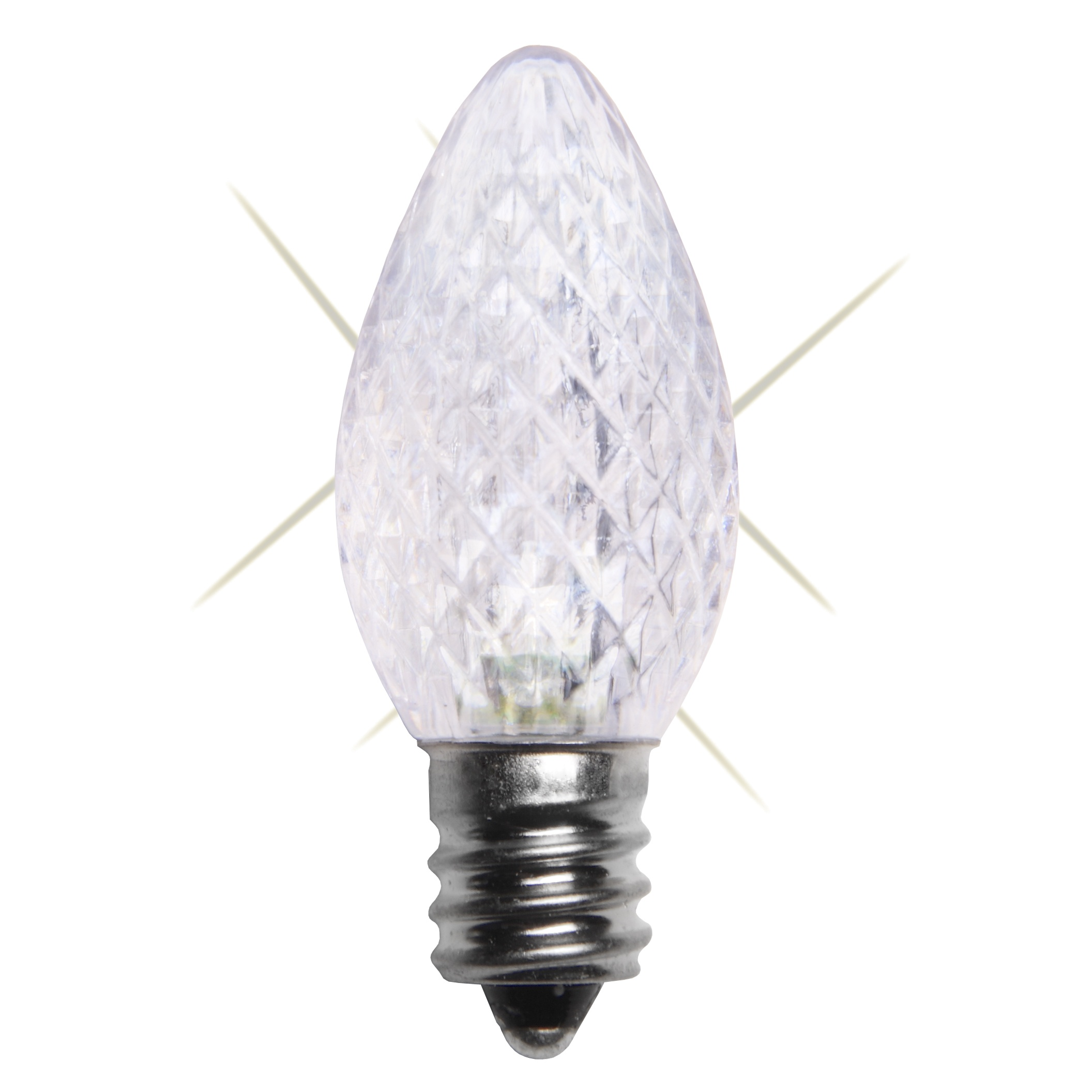 C7 Cool White LED Twinkle Christmas Bulb