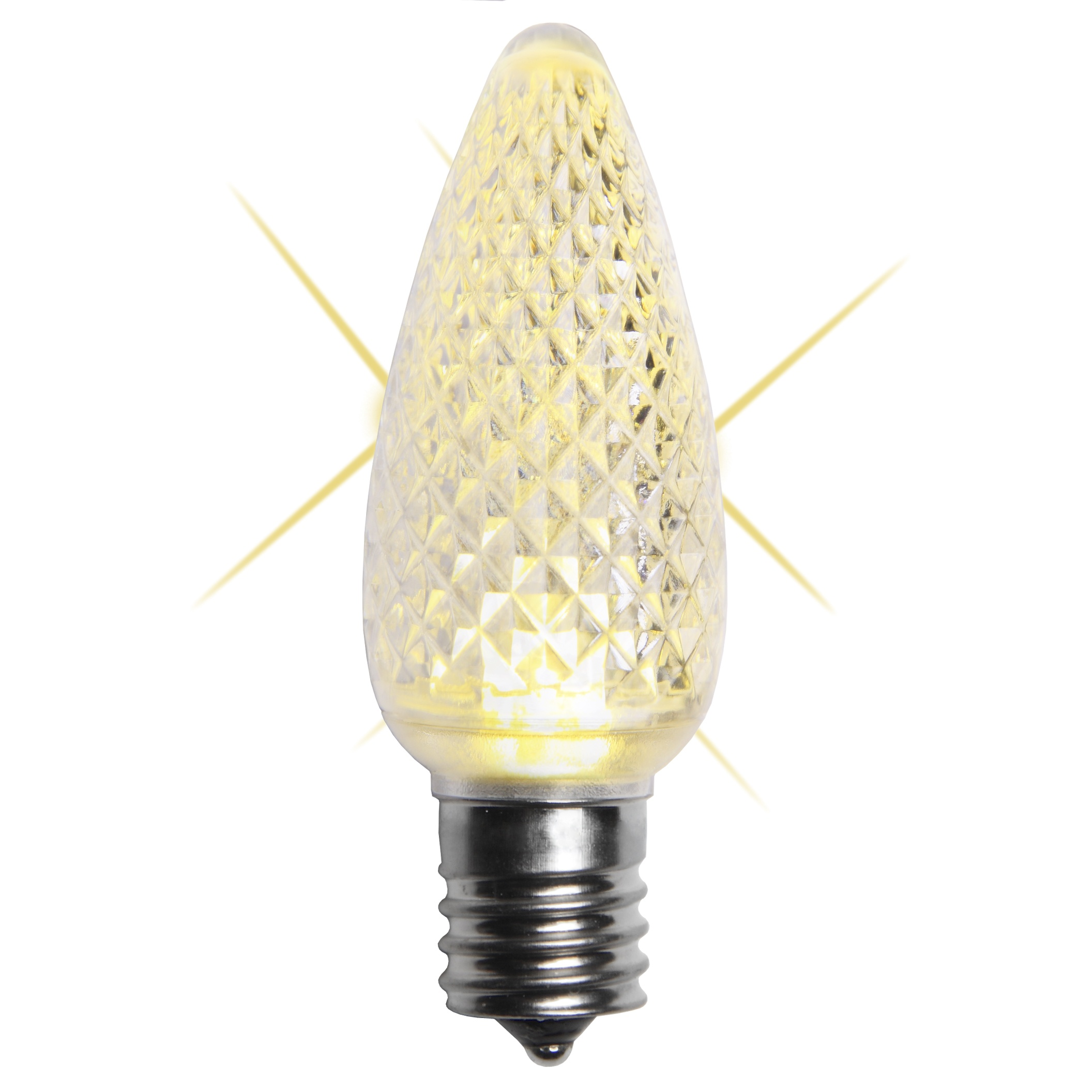 C9 Warm White LED Twinkle Bulb