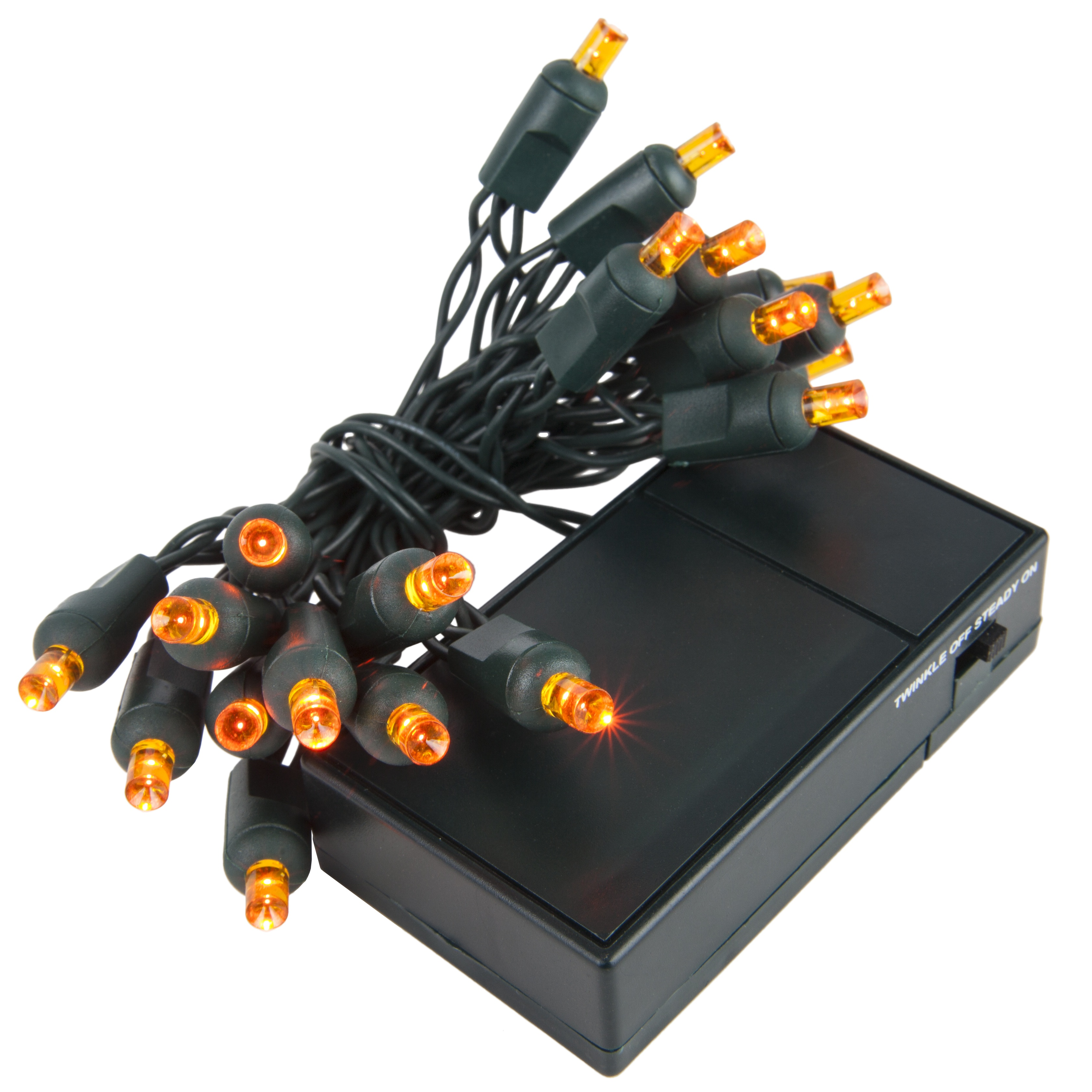 Amber Battery Operated LED Christmas Lights