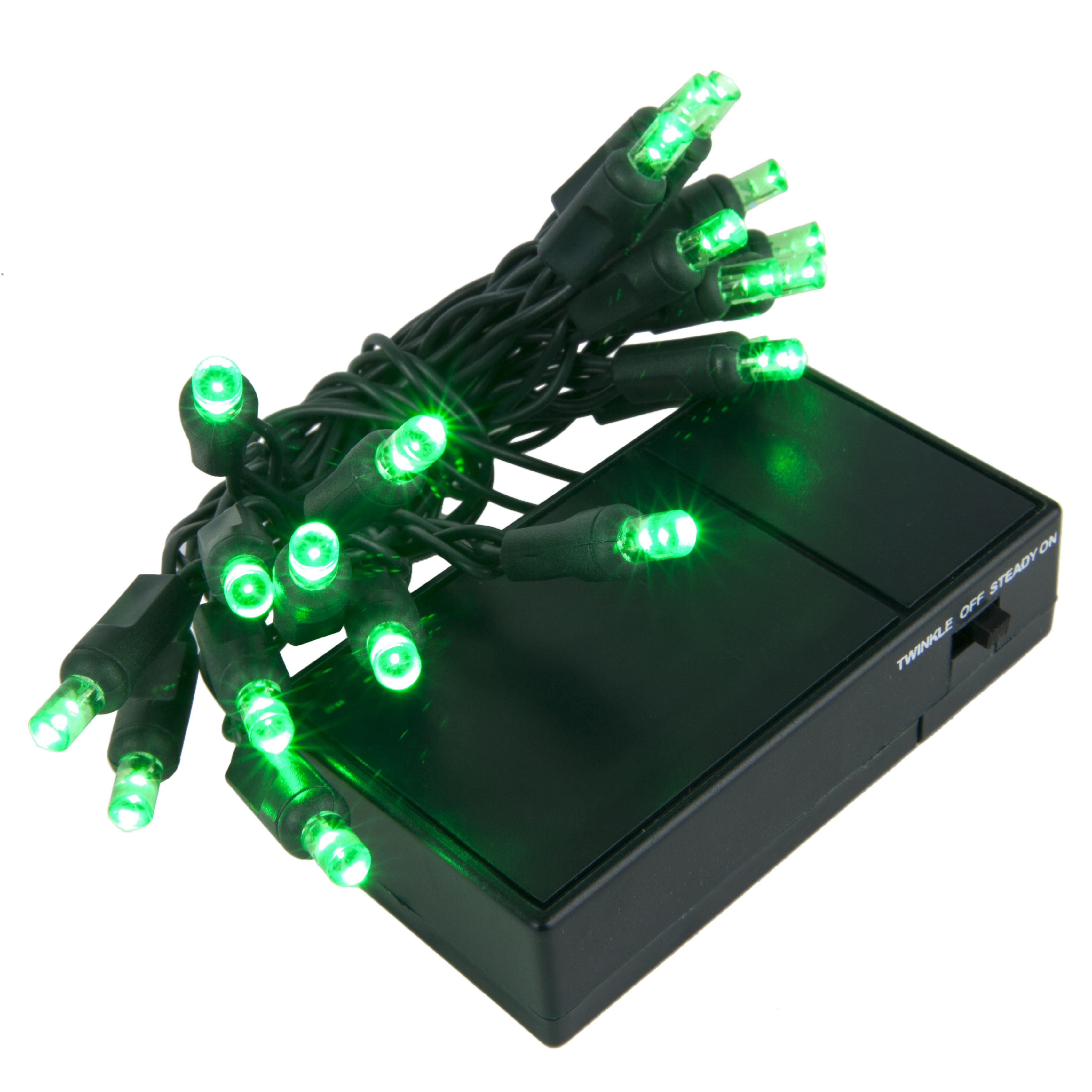 Green Battery Operated LED Mini Lights