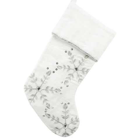 White Snowflake Stocking