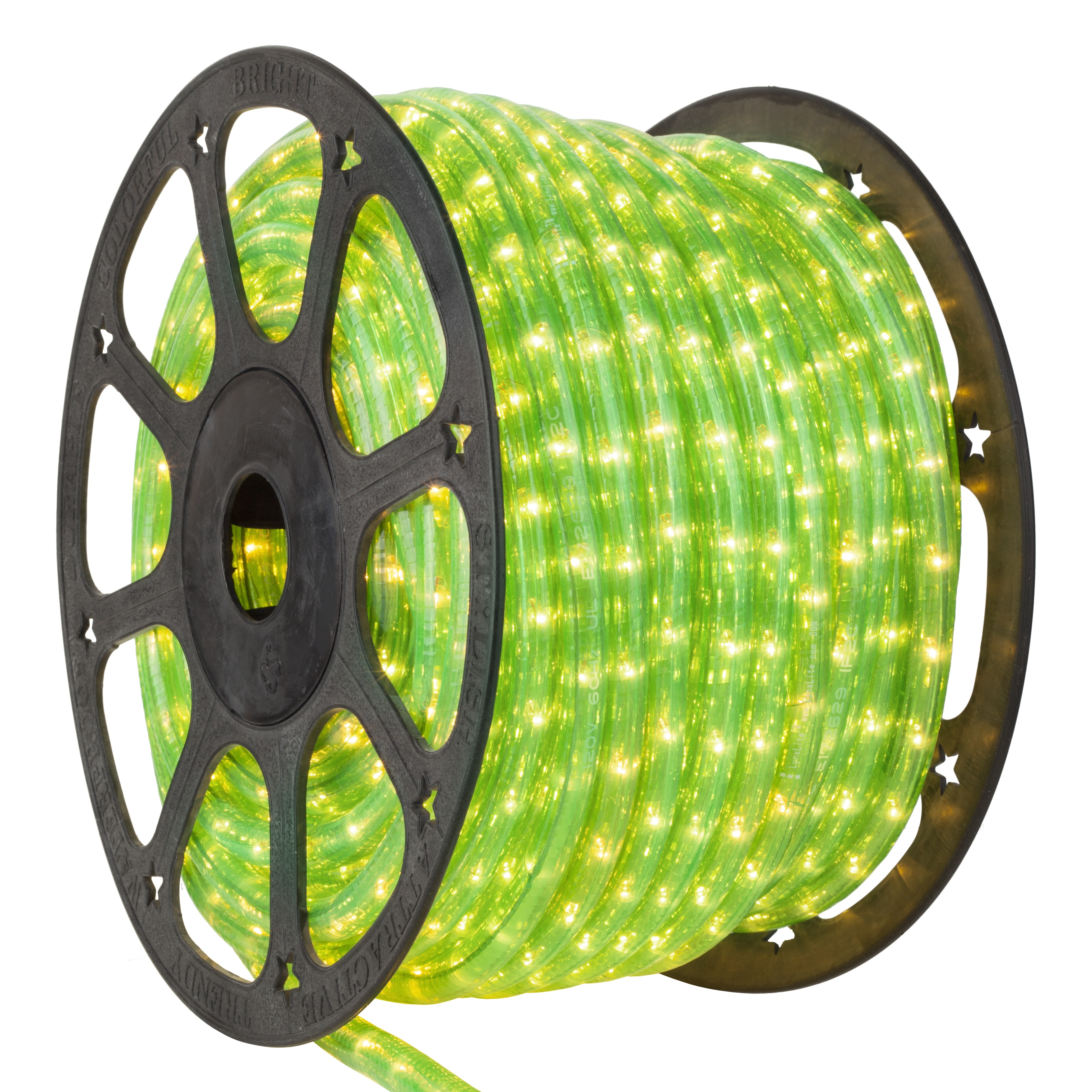 Fluorescent Green Rope Light Spool
