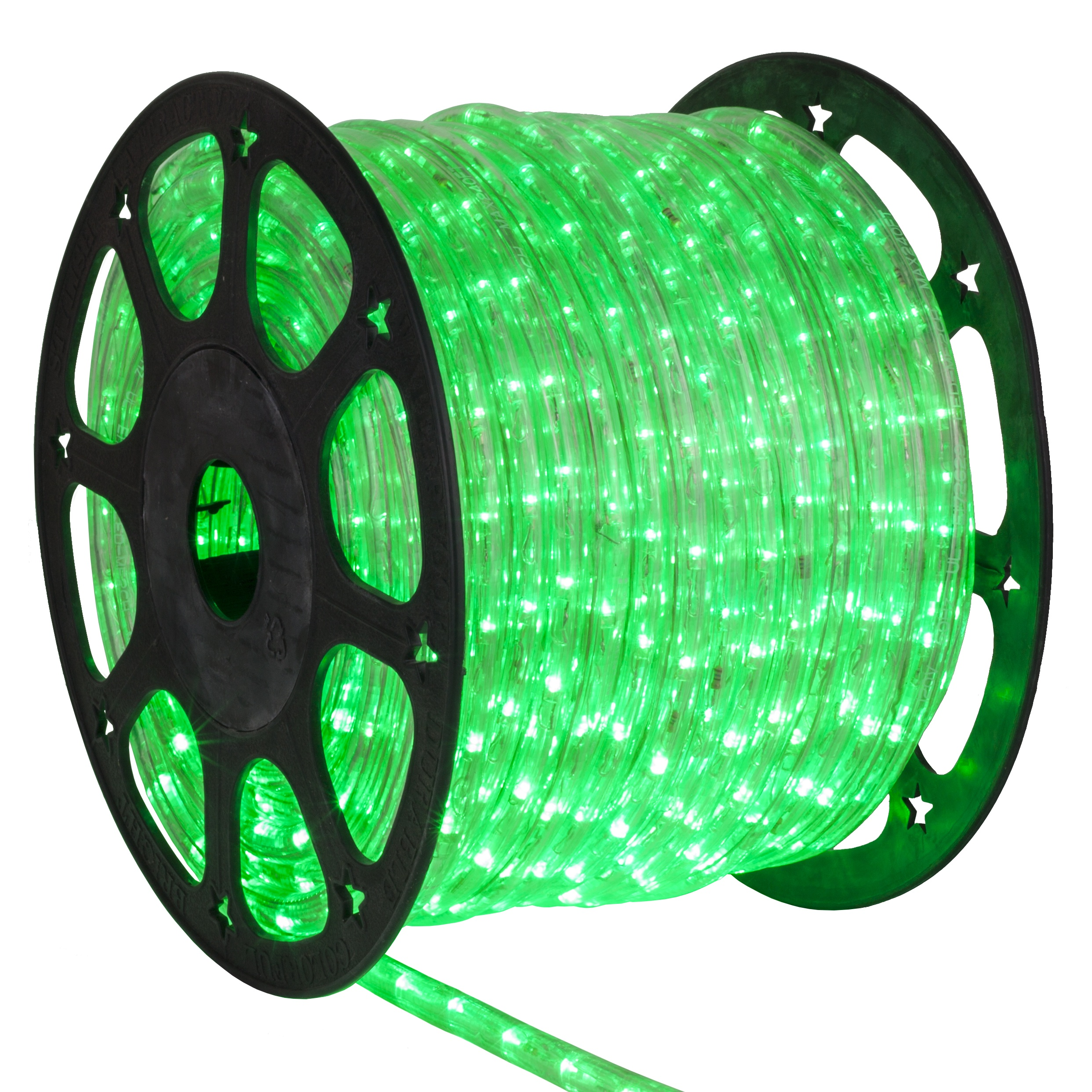 led rope lights 150 39 true green chasing led rope light commercial