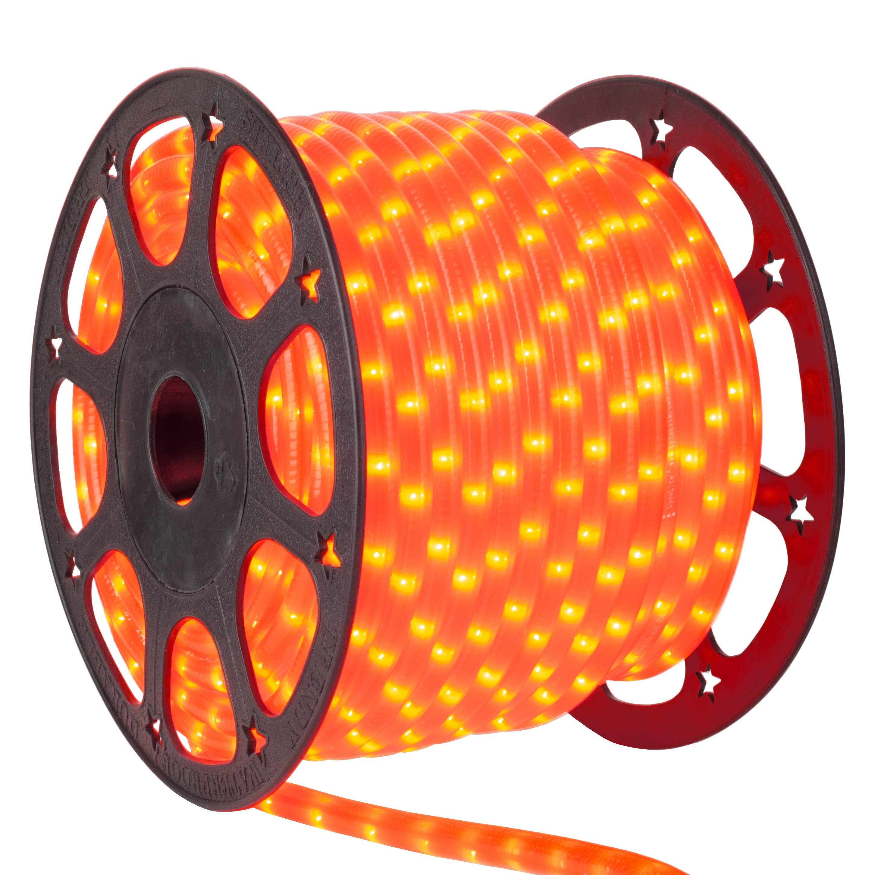 Pumpkin Orange Rope Light Spool