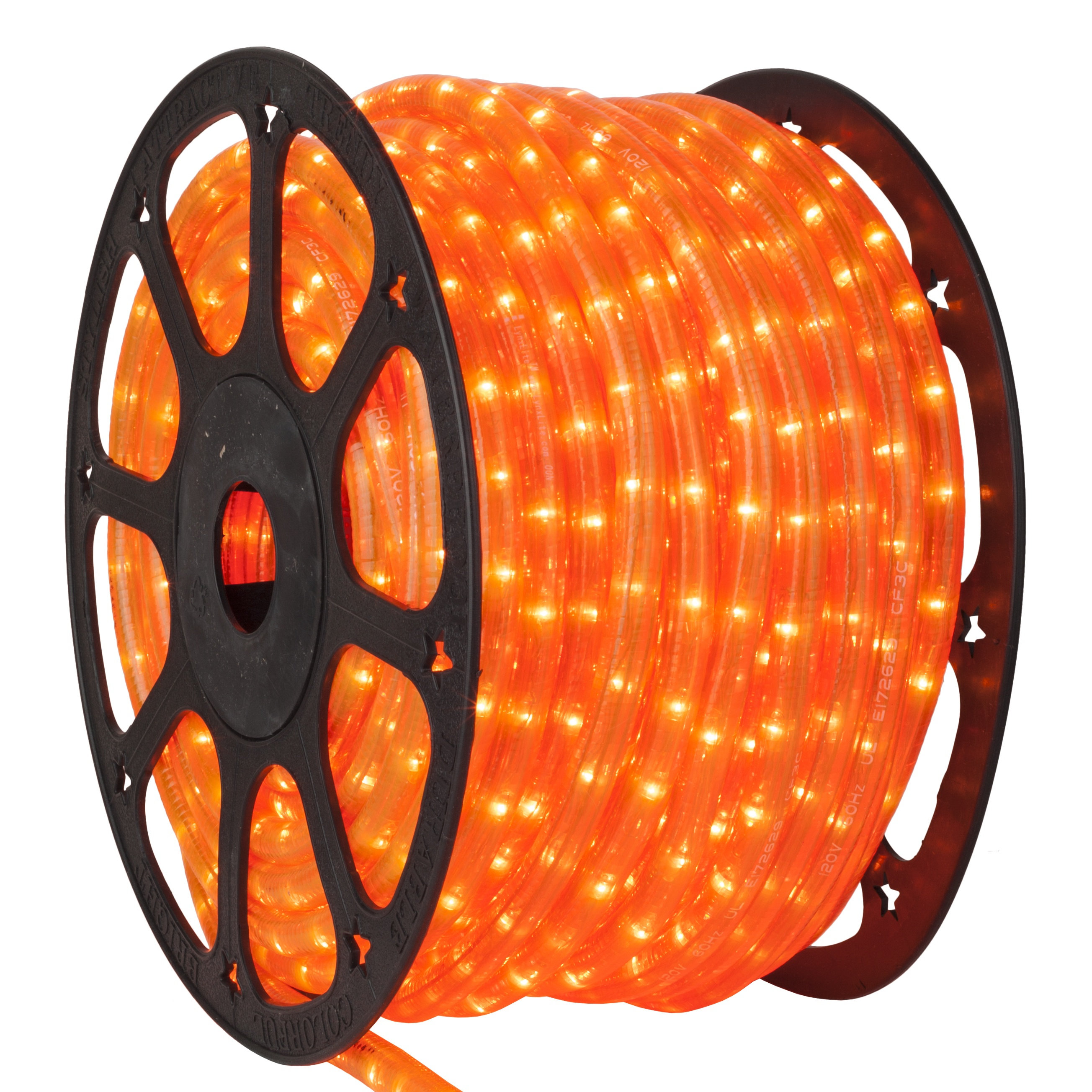 Fluorescent Orange Rope Light Spool