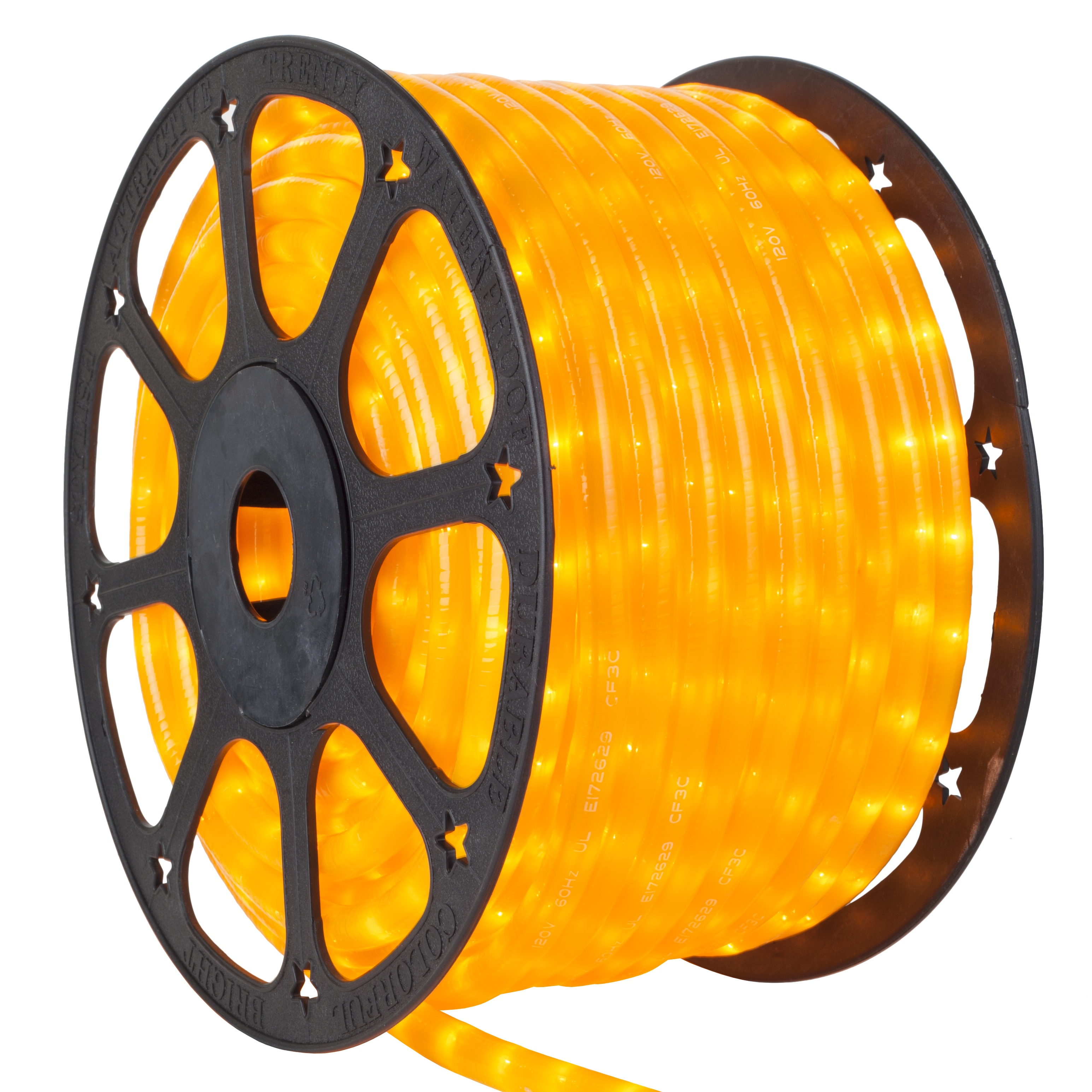Pearl Yellow Rope Light Spool