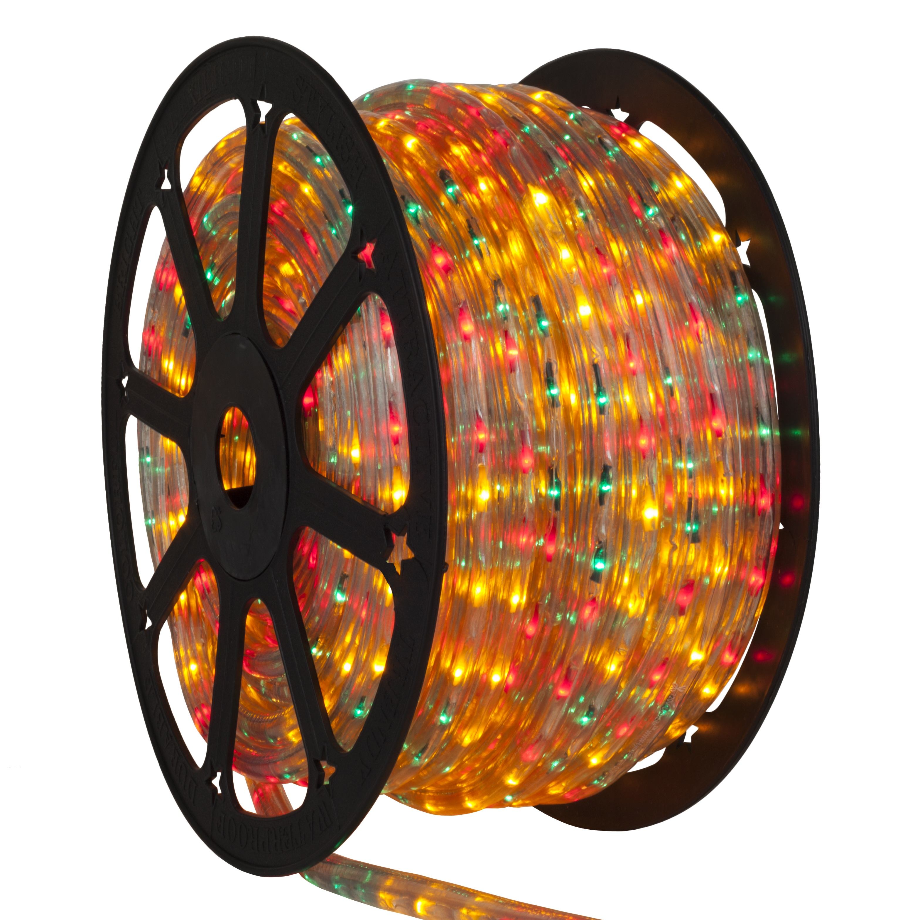 Multicolored Red Green Yellow Rope Light Spool