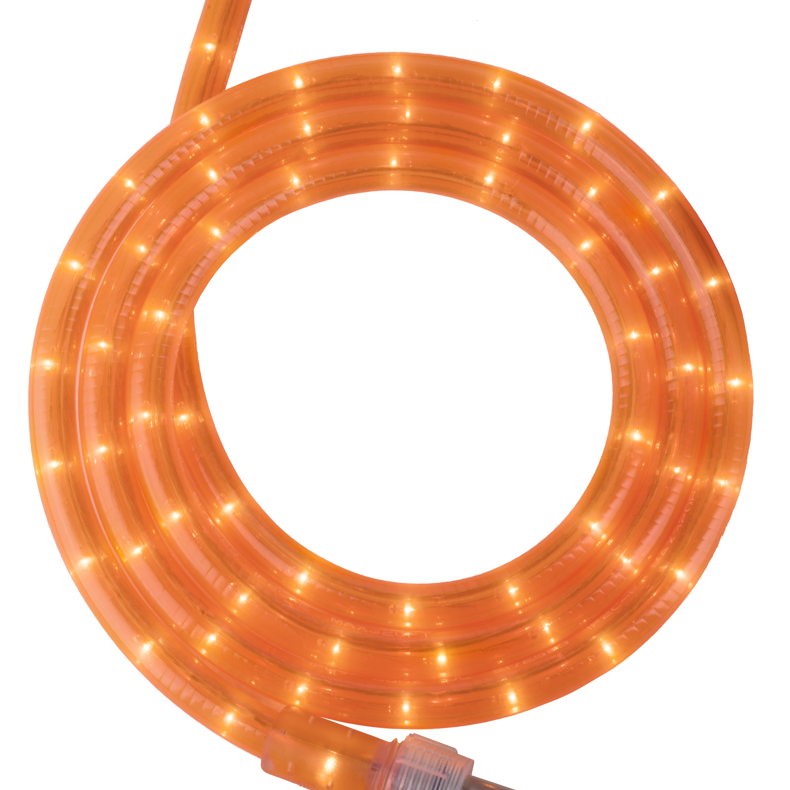 Fluorescent Orange Rope Light