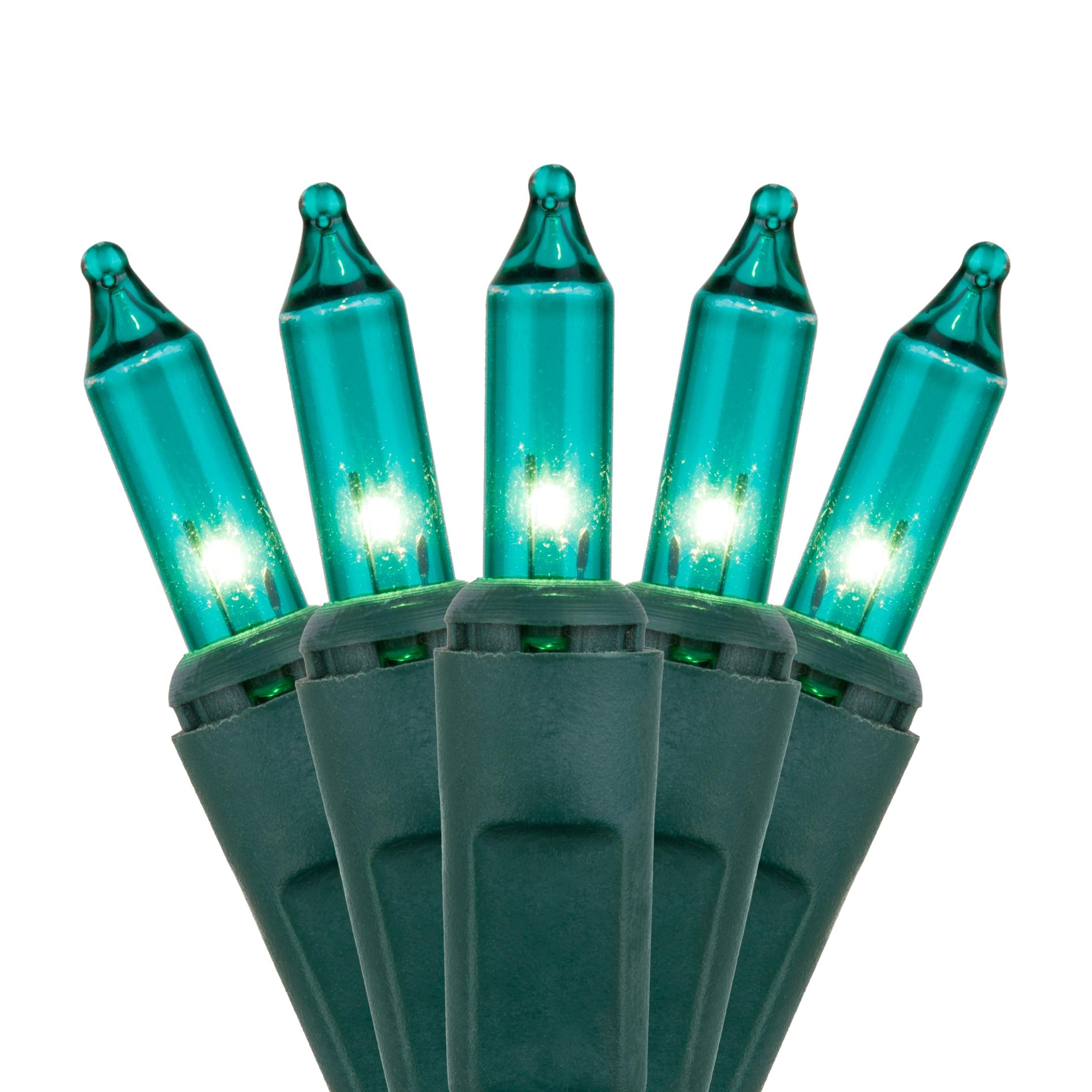 Christmas Lights 100 Teal Christmas Tree Mini Lights 6