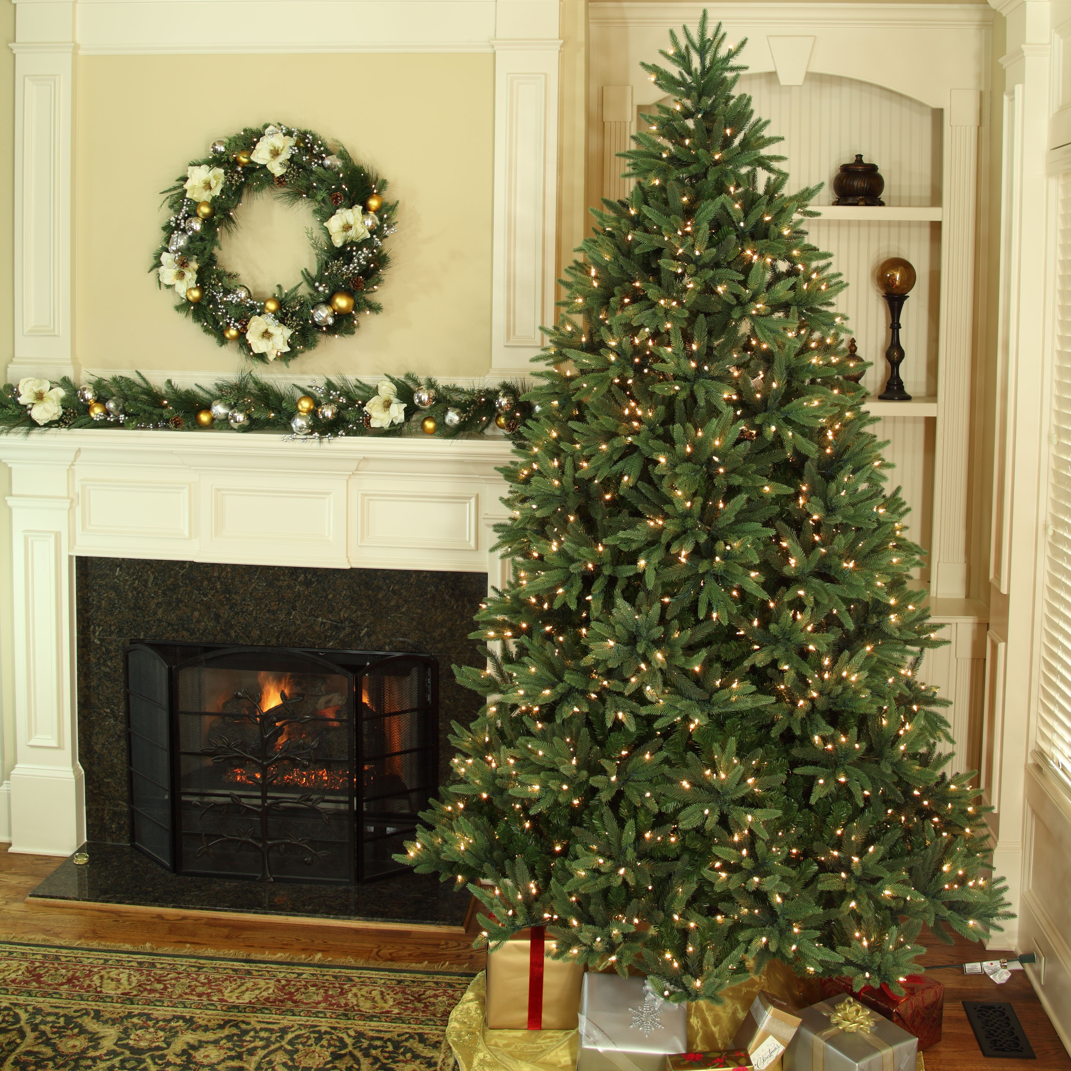 Noble Fir - Breathtaking green foliage, reminiscent of trees found in the forest, for a more natural look.  Classic layered look, ideal for showcasing those special ornaments.