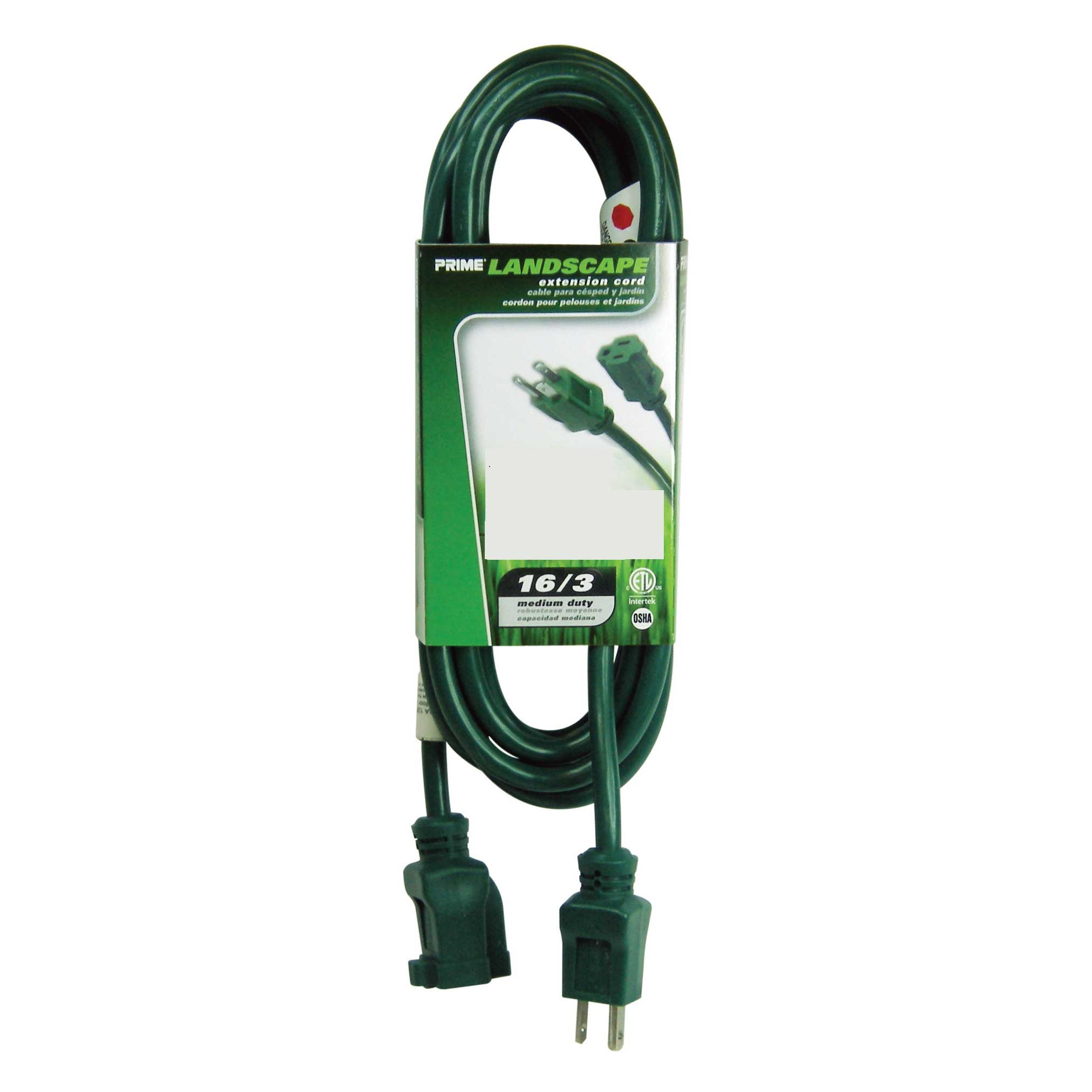 green outdoor extension cord