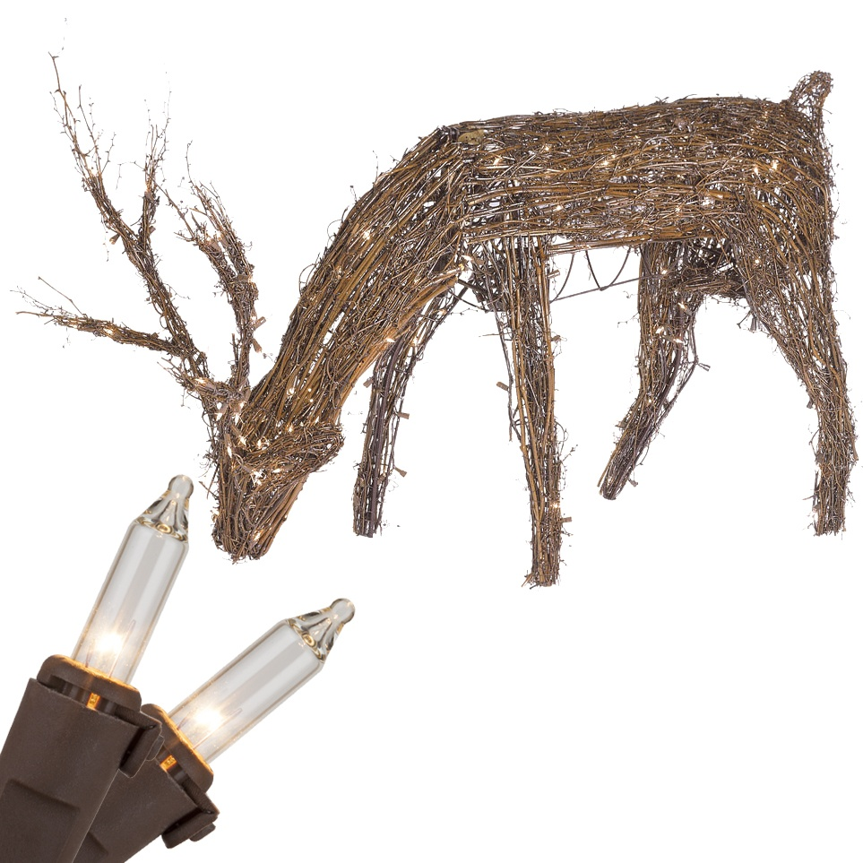 Grapevine Deer Head Down Decoration