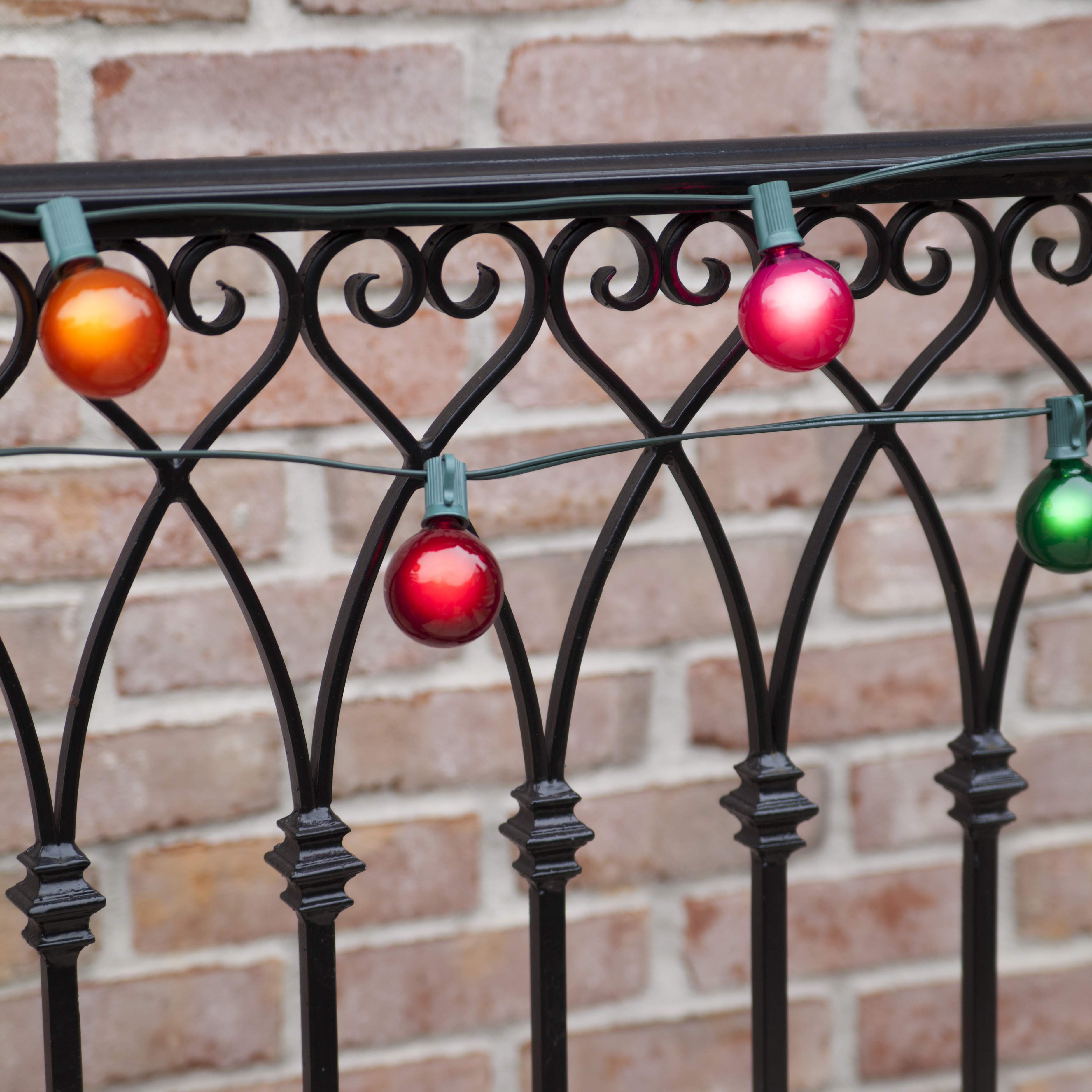 multicolor globe party lights