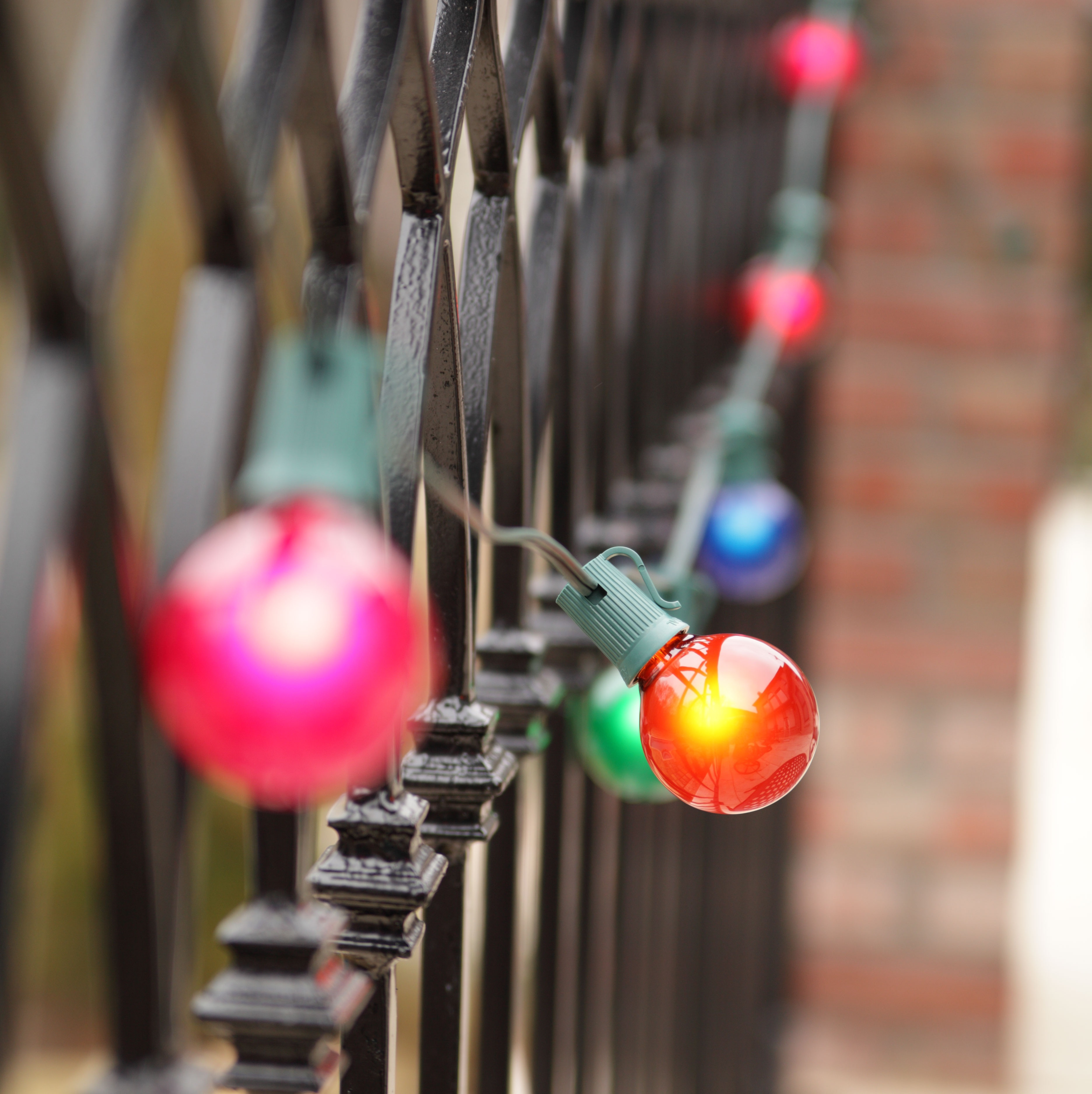 multicolor patio lights