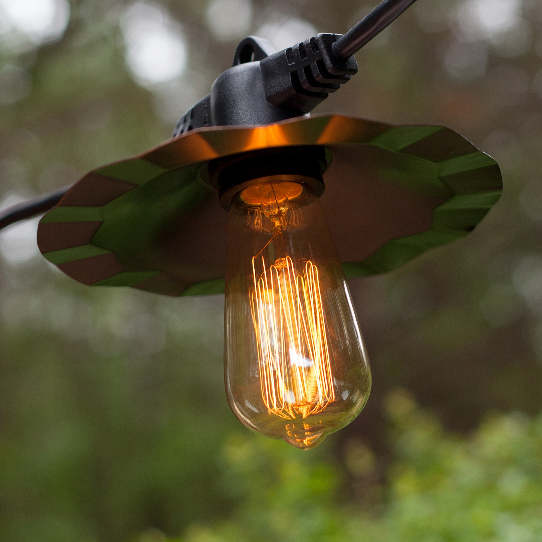 Patio Lights with Vintage Bulbs