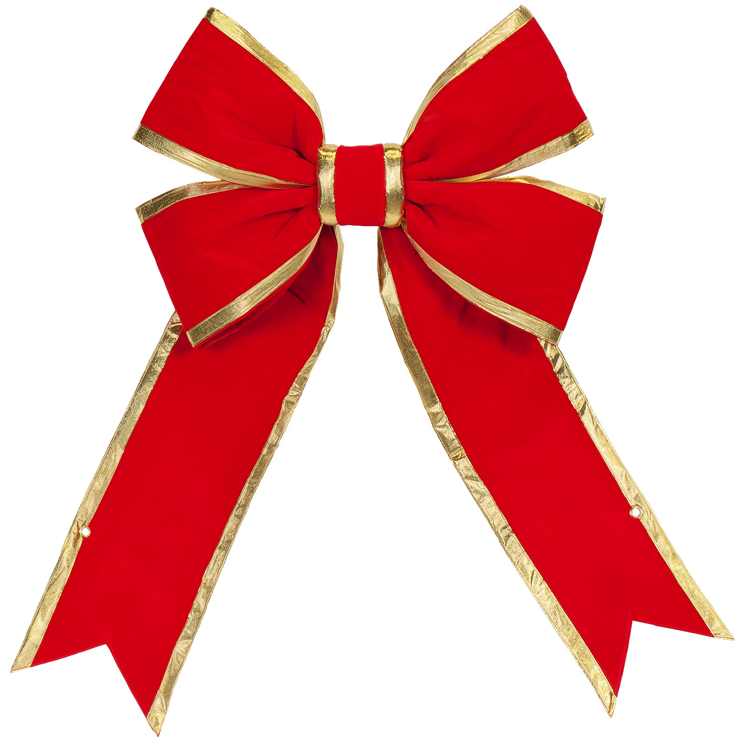 Large Outdoor Red with Gold Trim Bow
