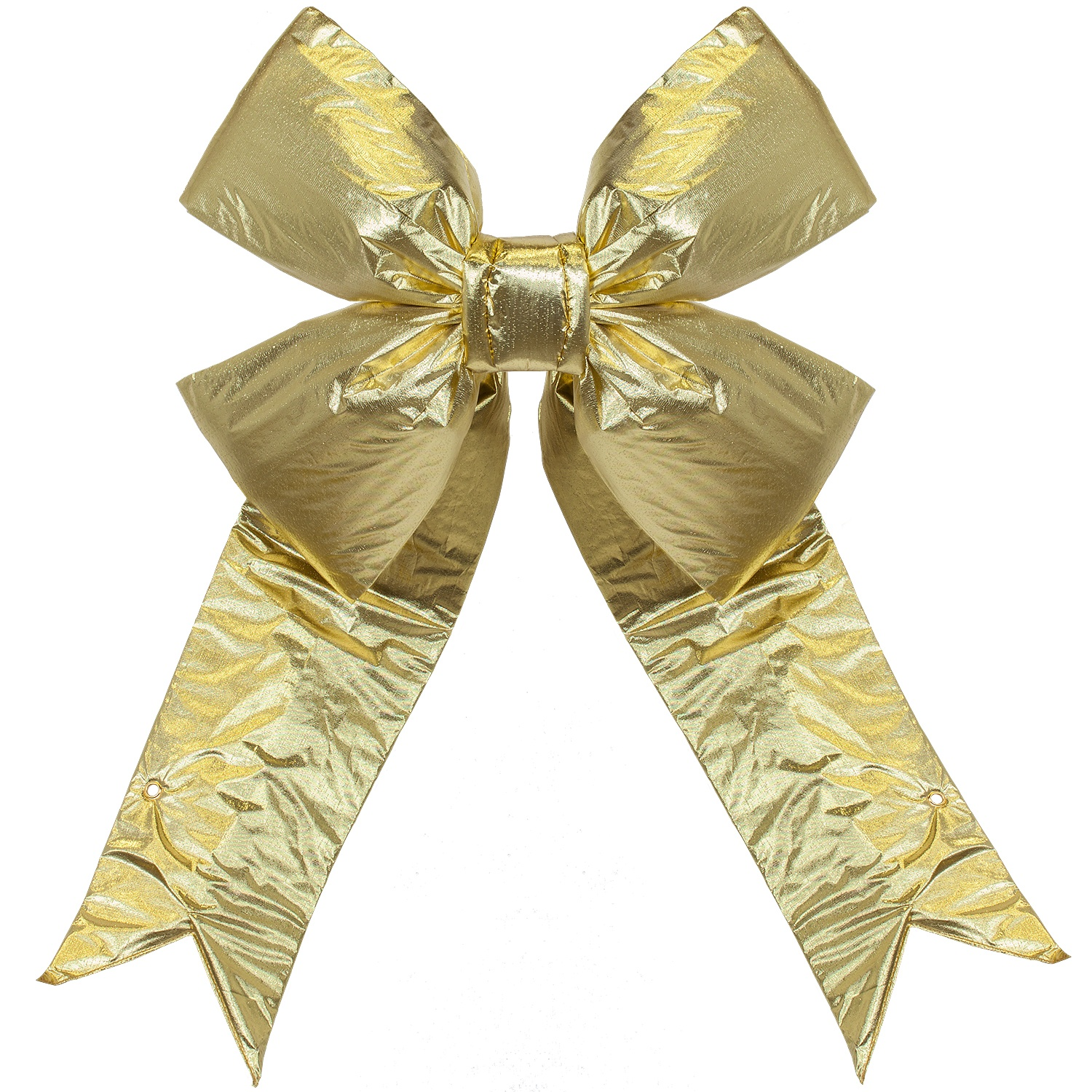 Large Outdoor Gold Metallic Bow
