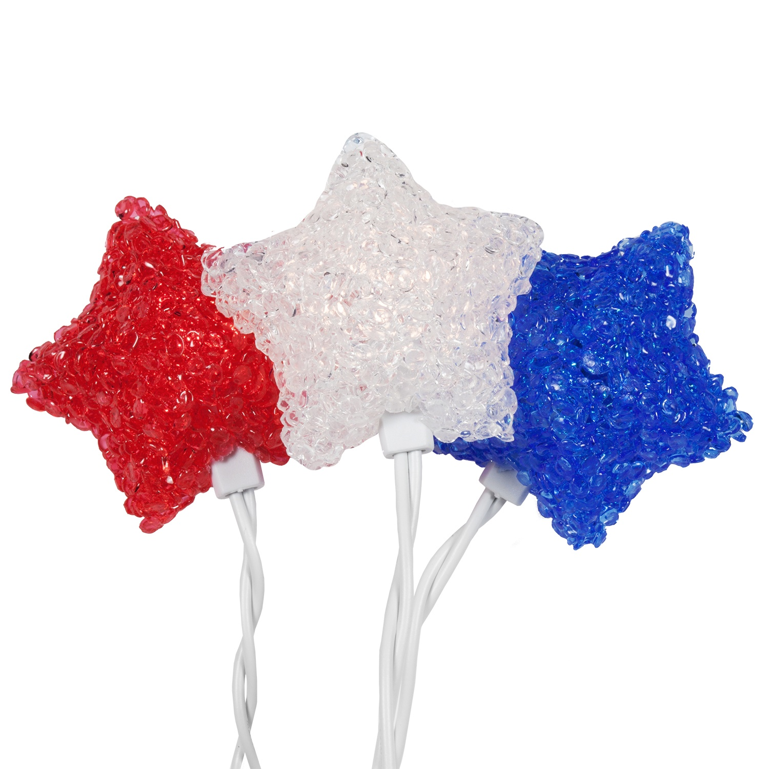 Patriotic Outdoor Umbrella Lights