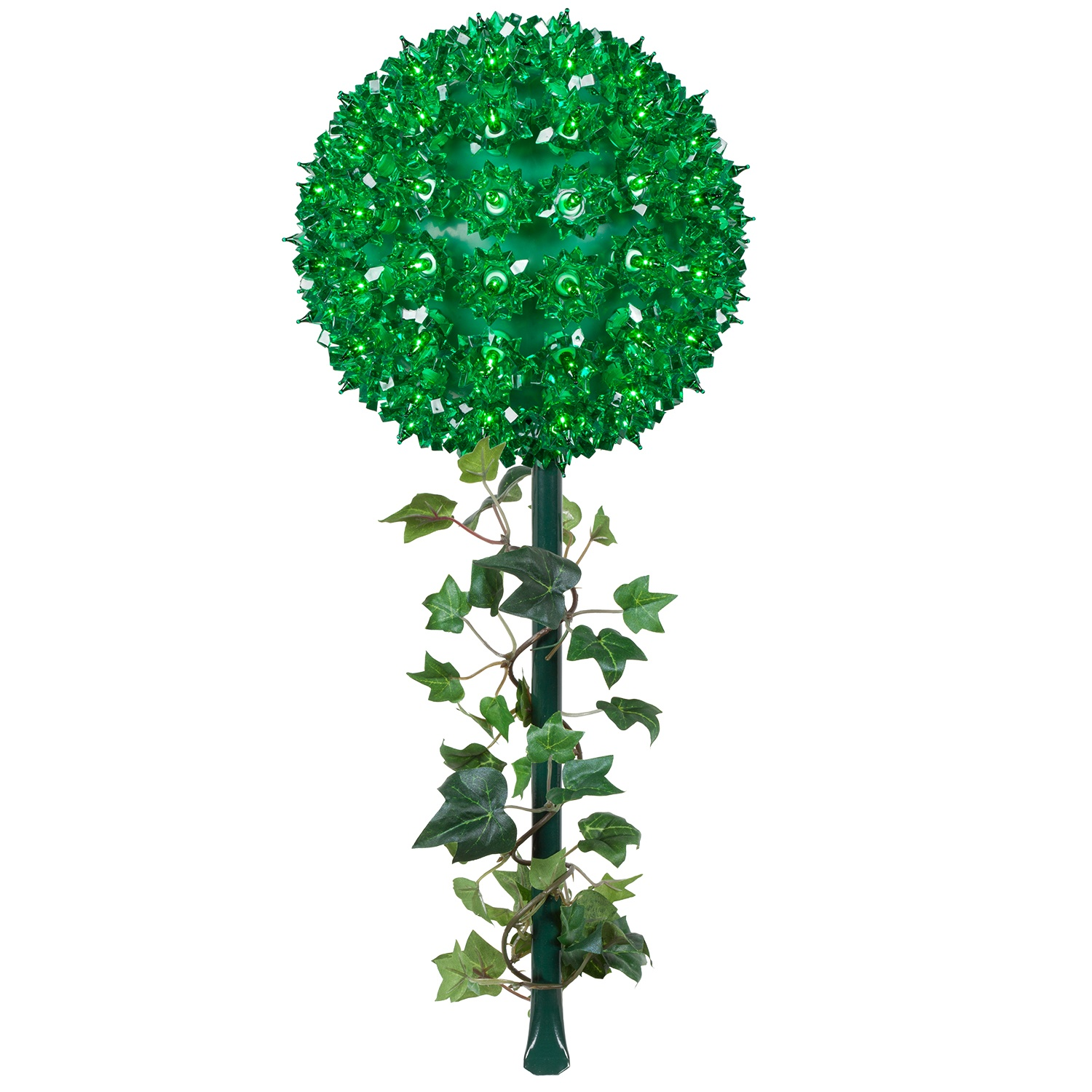Green Starlight Sphere with Stake