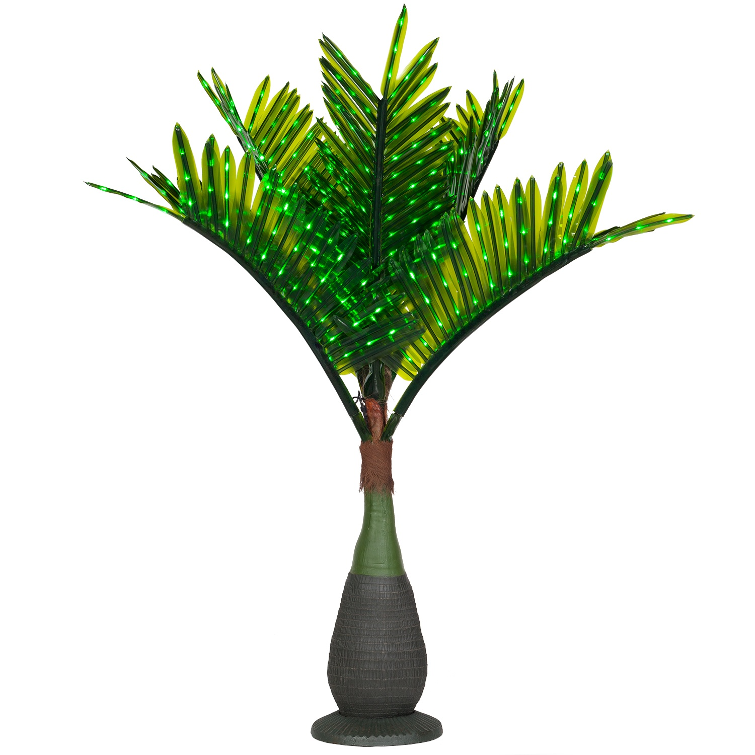 Lighted Palm Trees  7.539; LED Bottle Palm Tree  Natural Green