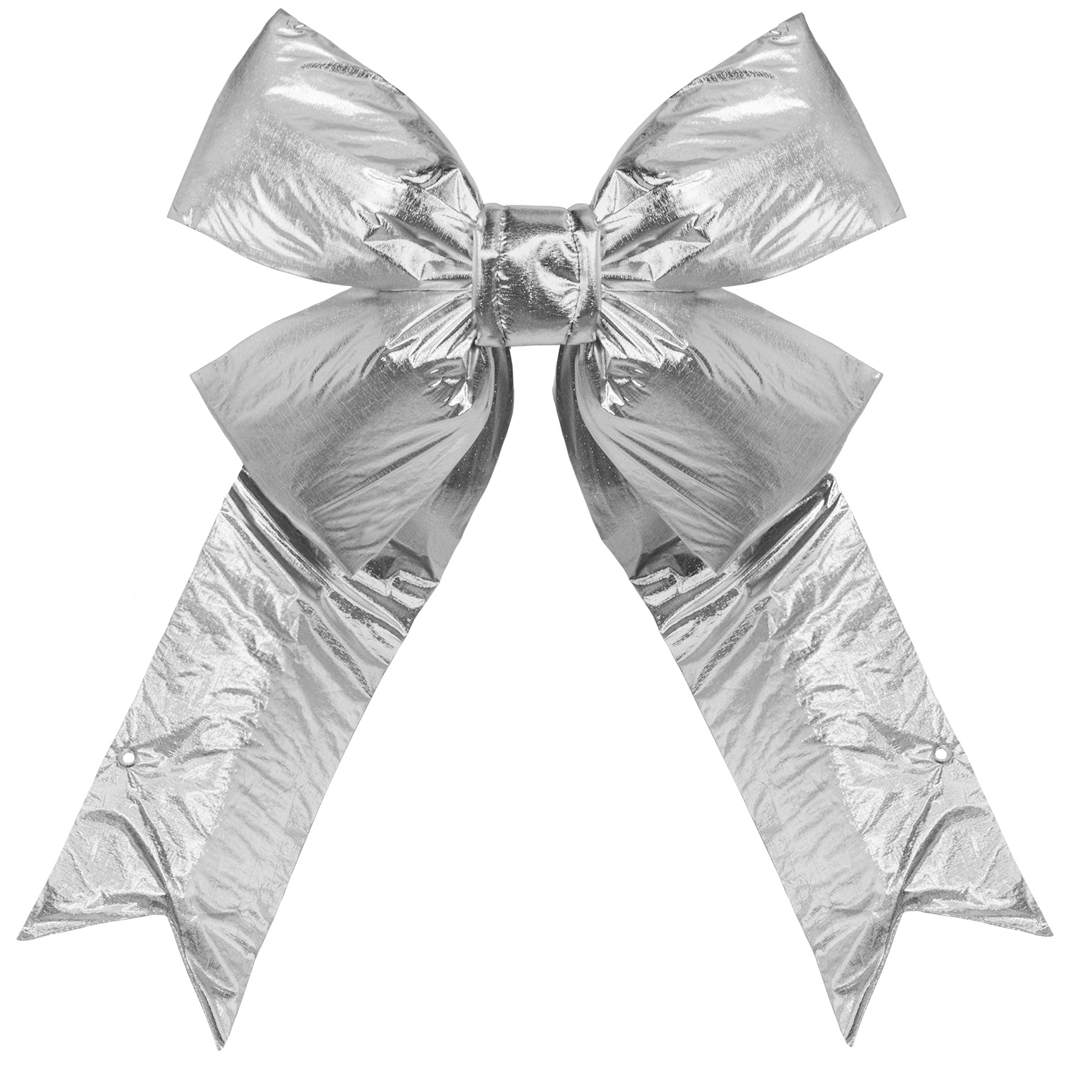 Silver Metallic Large Bow
