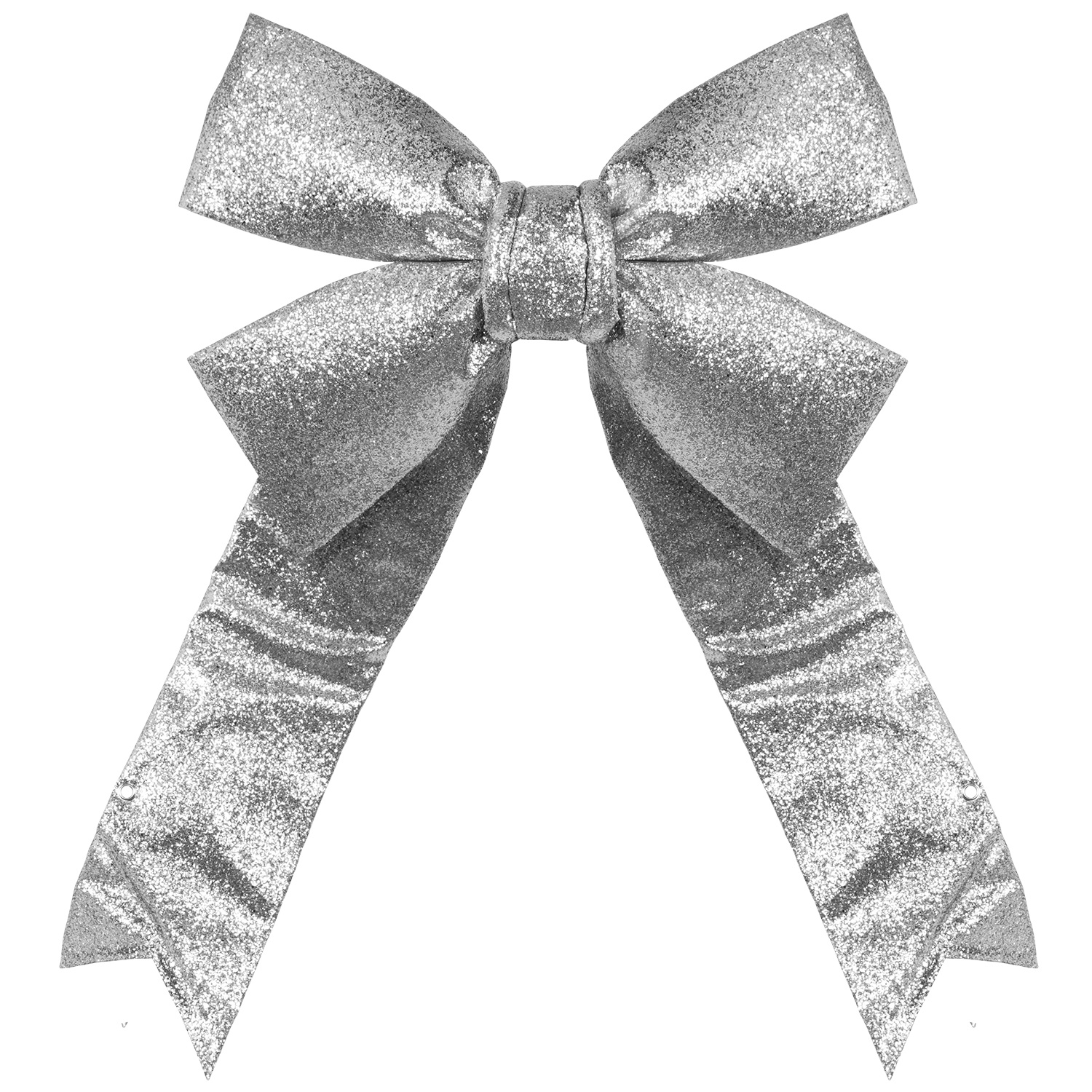 Silver Glitter Outdoor Holiday Bow