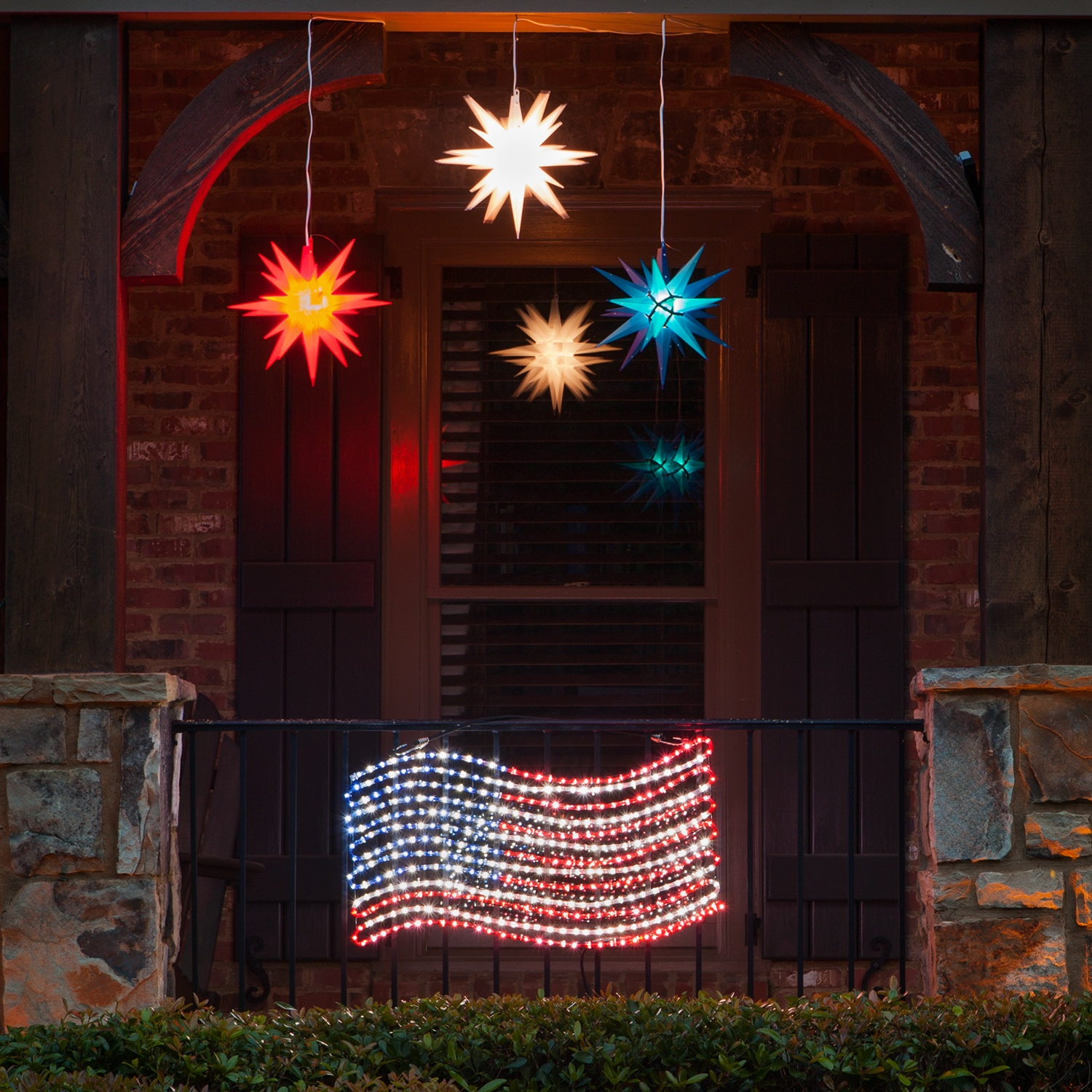 rope light decoration led rope light patriotic flag