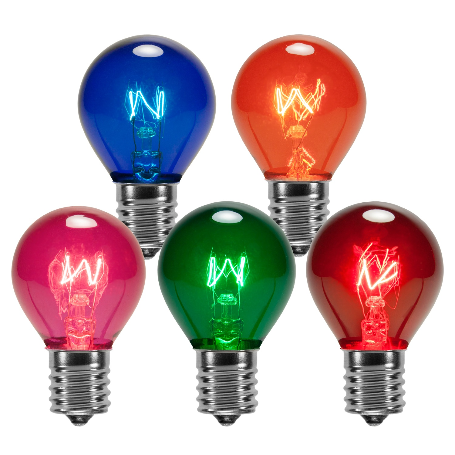 Multicolor Transparent Bulbs