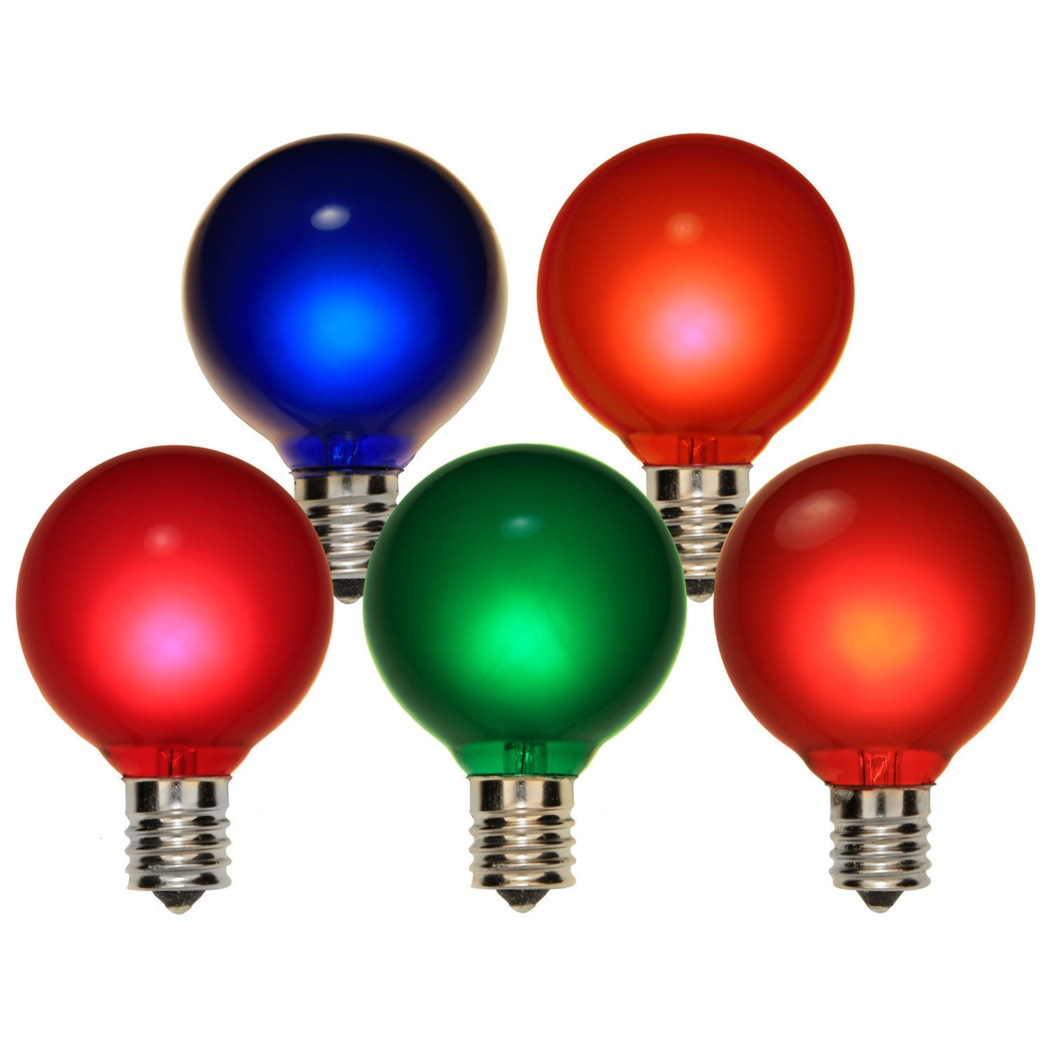 Multicolor Satin Bulbs