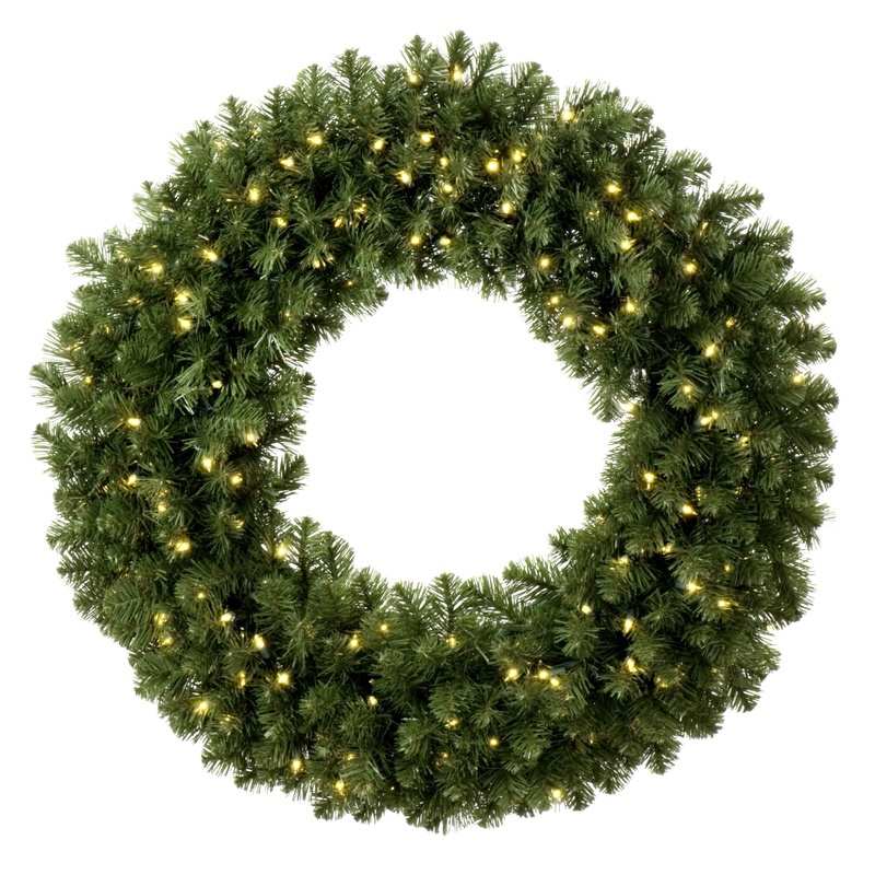 Prelit Sequoia Wreath