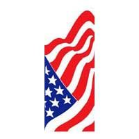"American Flag Light Pole Banner 30"" x 94"""