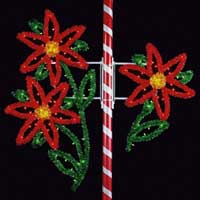 Commercial Christmas decorations and displays.  Outdoor commercial lighting pole mounts