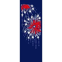 "Fireworks Light Pole Banner 30"" x 84"""
