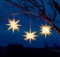 moravian stars, novelty christmas lights