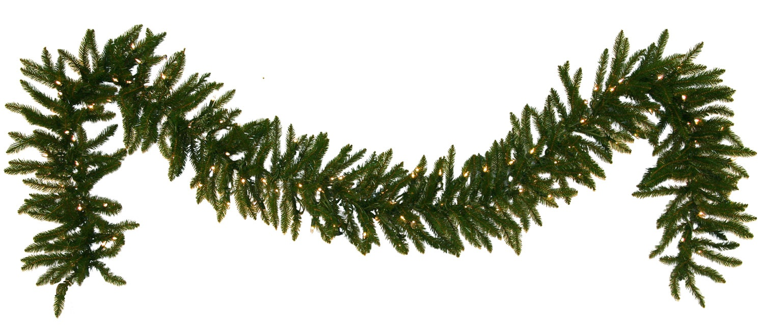9' Pre-Lit Norway Spruce LED Garland, 100 Warm White LED Lights