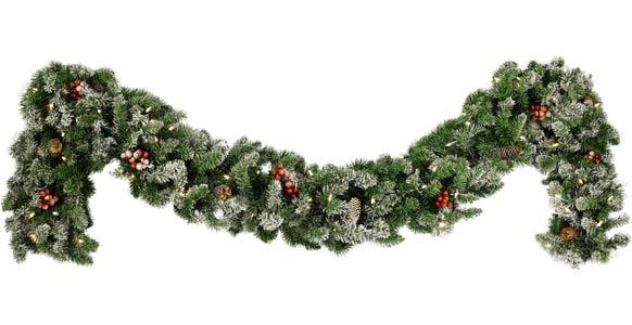 Decorative Garland   Hawthorne Prelit Christmas Garland Clear Lights DTB2d4tK
